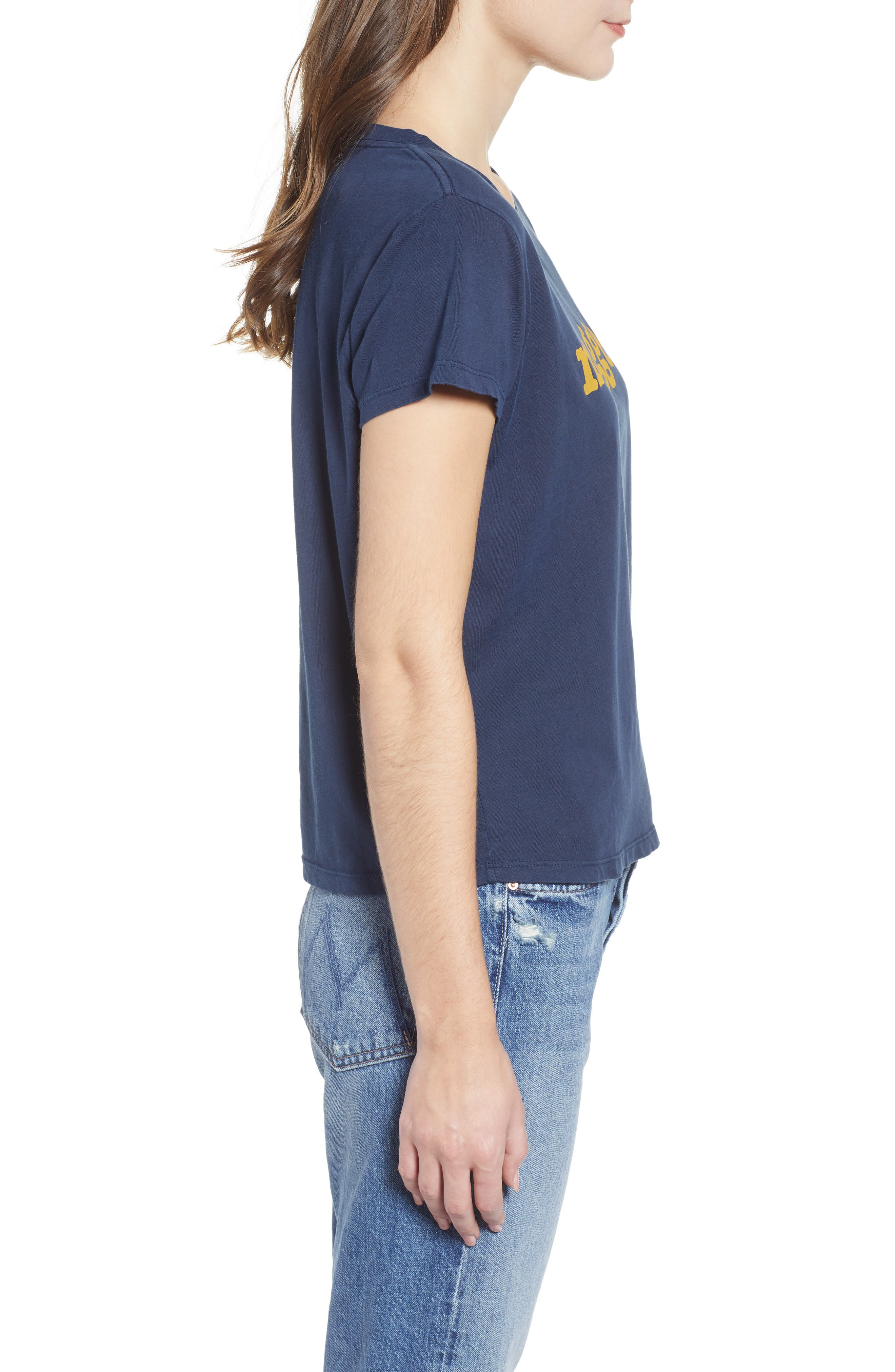 The Boxy Goodie Goodie Supima<sup>®</sup> Cotton Tee,                             Alternate thumbnail 3, color,                             NAVY