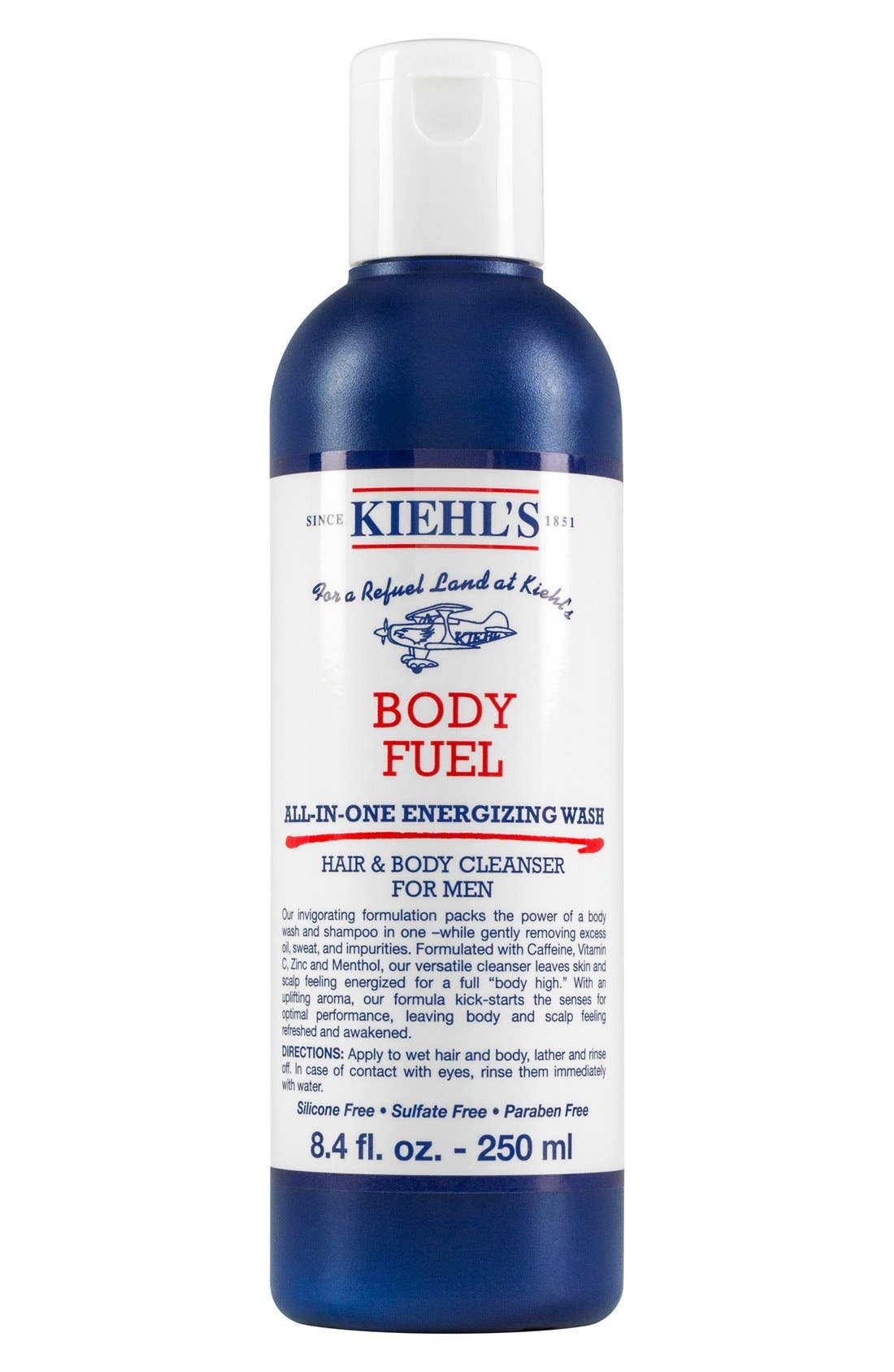 'Body Fuel' All-in-One Energizing & Conditioning Wash,                             Alternate thumbnail 3, color,                             000