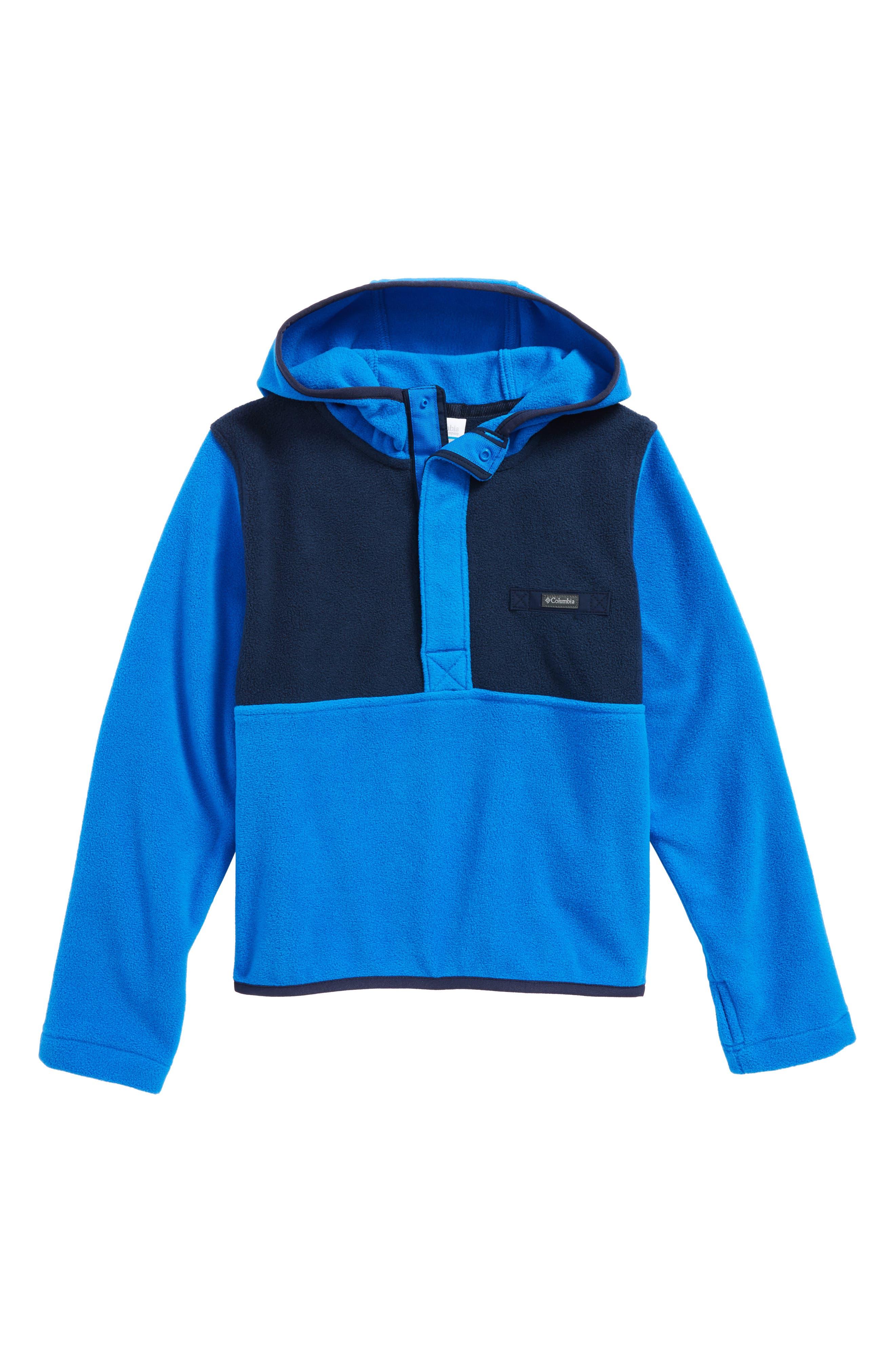 Mountain Side Quarter Zip Pullover Fleece Hoodie,                             Main thumbnail 1, color,