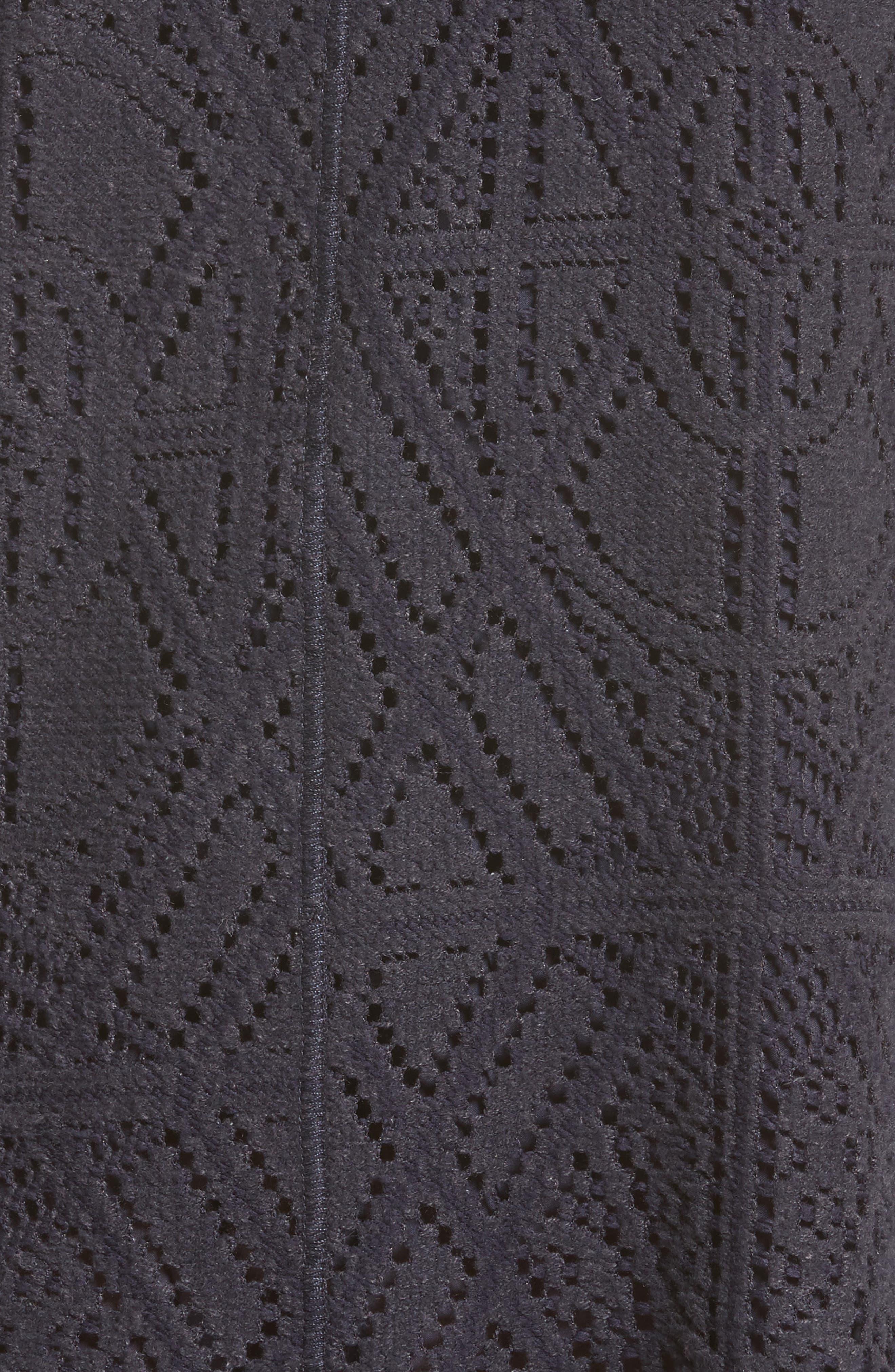 Lace Ruffle Hem Minidress,                             Alternate thumbnail 5, color,                             401