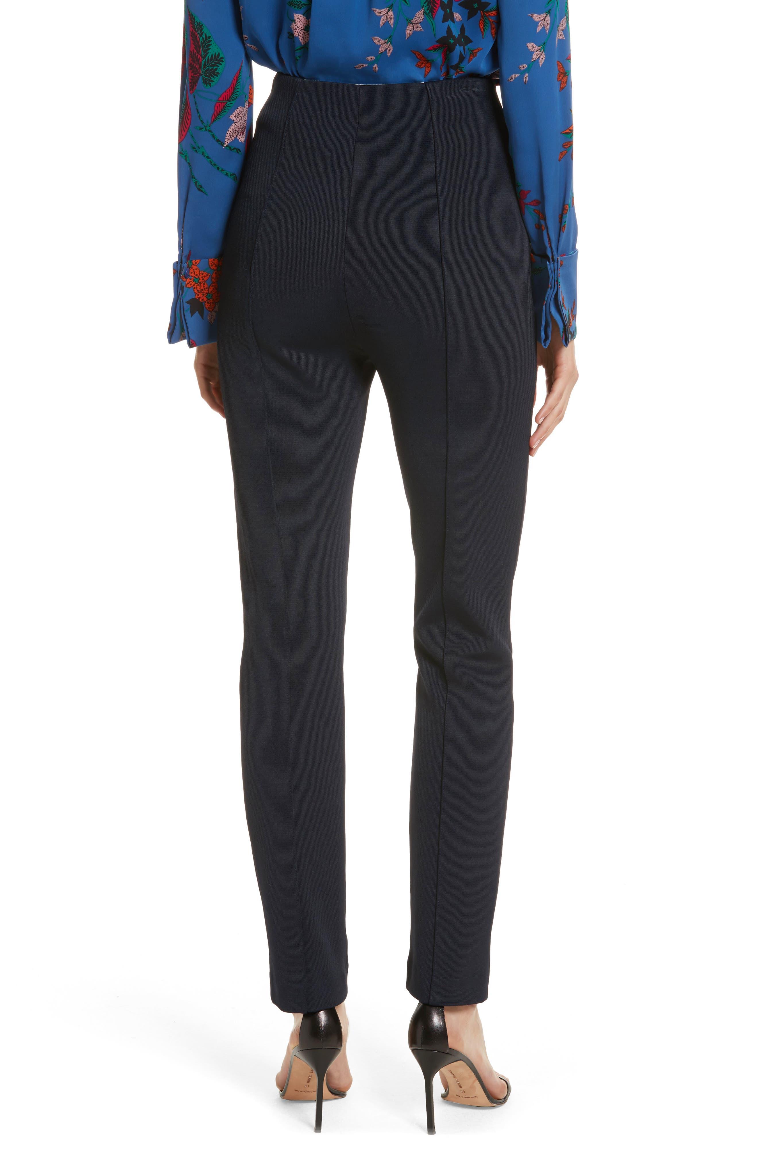 Diane von Furstenberg High Waist Skinny Pants,                             Alternate thumbnail 2, color,                             403