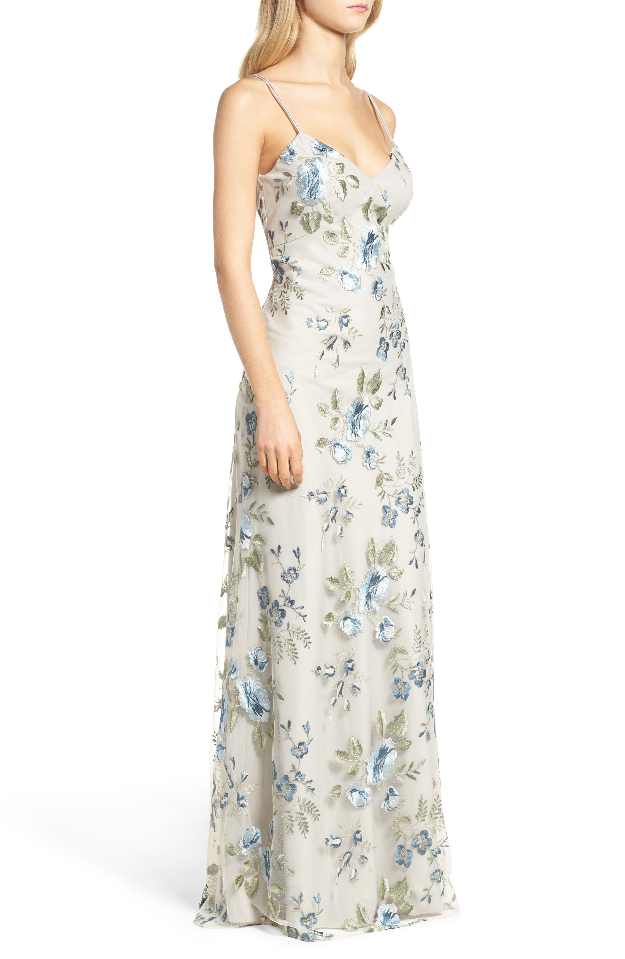 Julianna Embroidered Gown,                             Alternate thumbnail 3, color,                             461