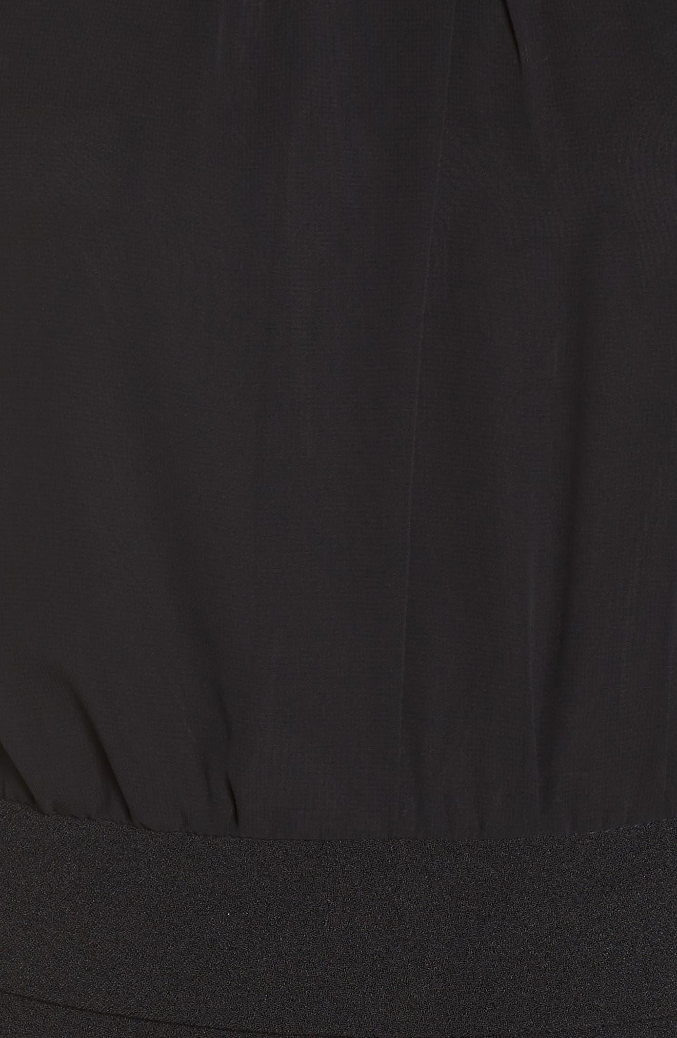 Crepe Jumpsuit,                             Alternate thumbnail 6, color,                             BLACK