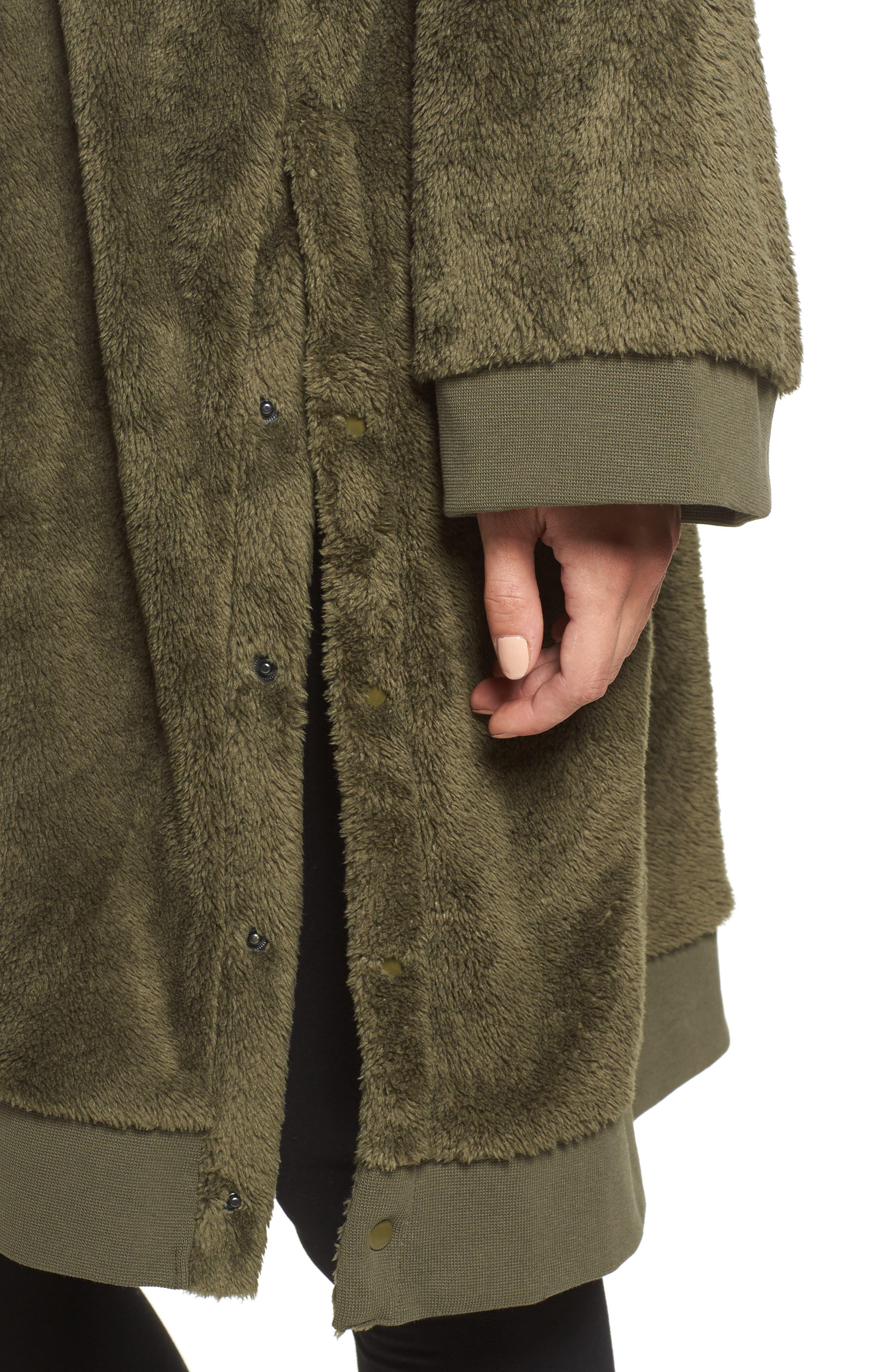 Fleece Oversize Hoodie,                             Alternate thumbnail 9, color,