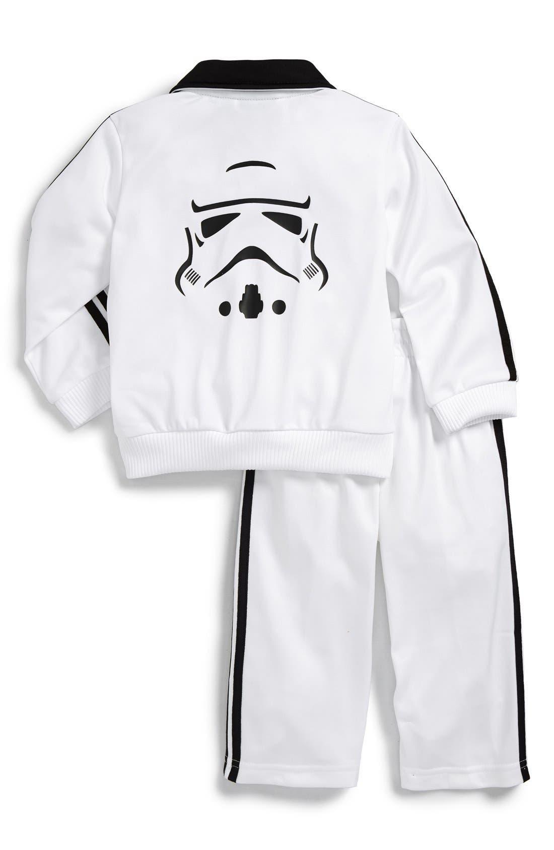 ADIDAS,                             'Star Wars - Stormtrooper' Tracksuit,                             Alternate thumbnail 4, color,                             100