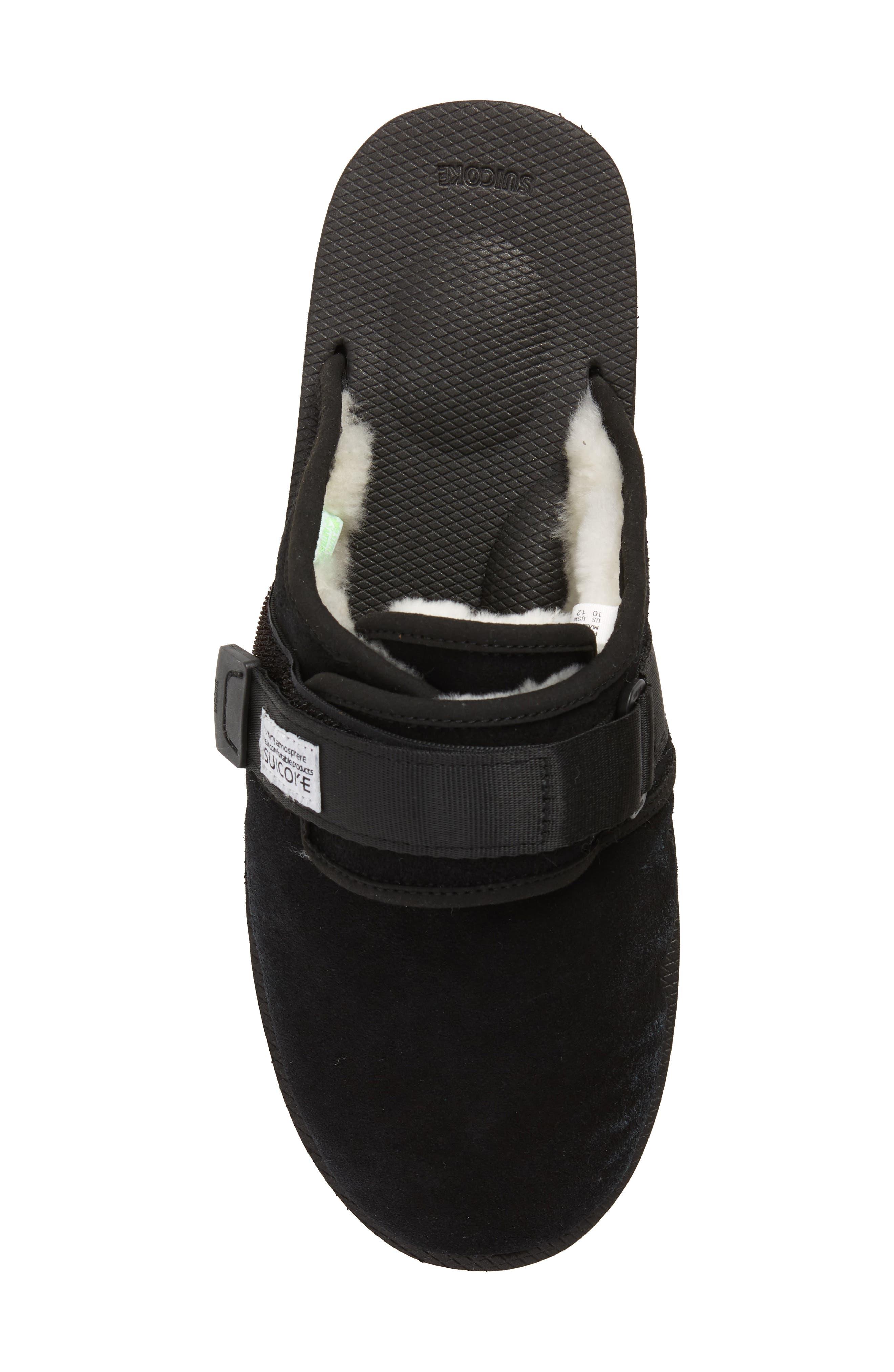 Zavo Genuine Shearling Slipper,                             Alternate thumbnail 5, color,                             BLACK