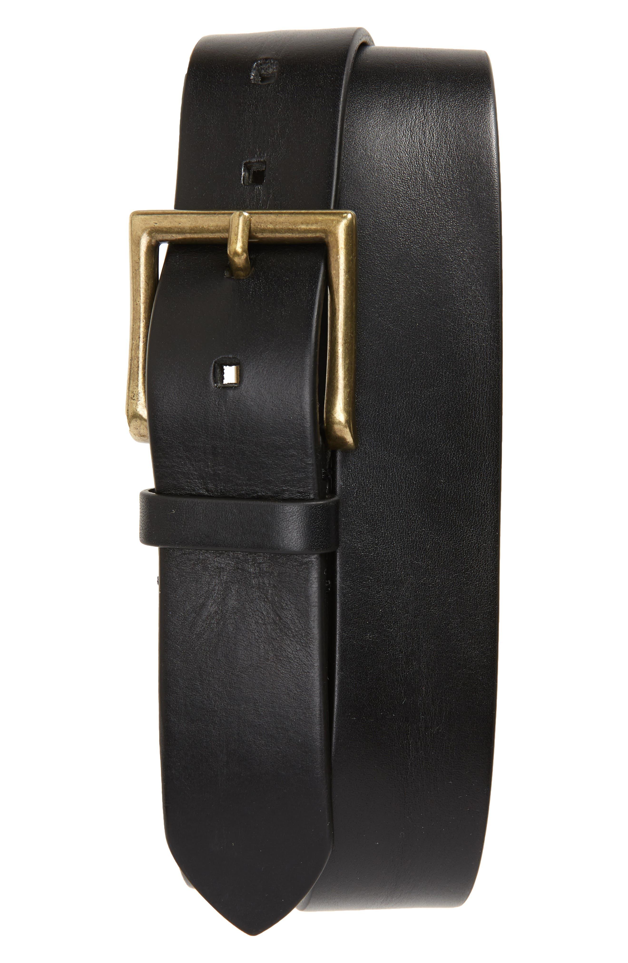 To Boot New York Vachetta Leather Belt, Florida Black