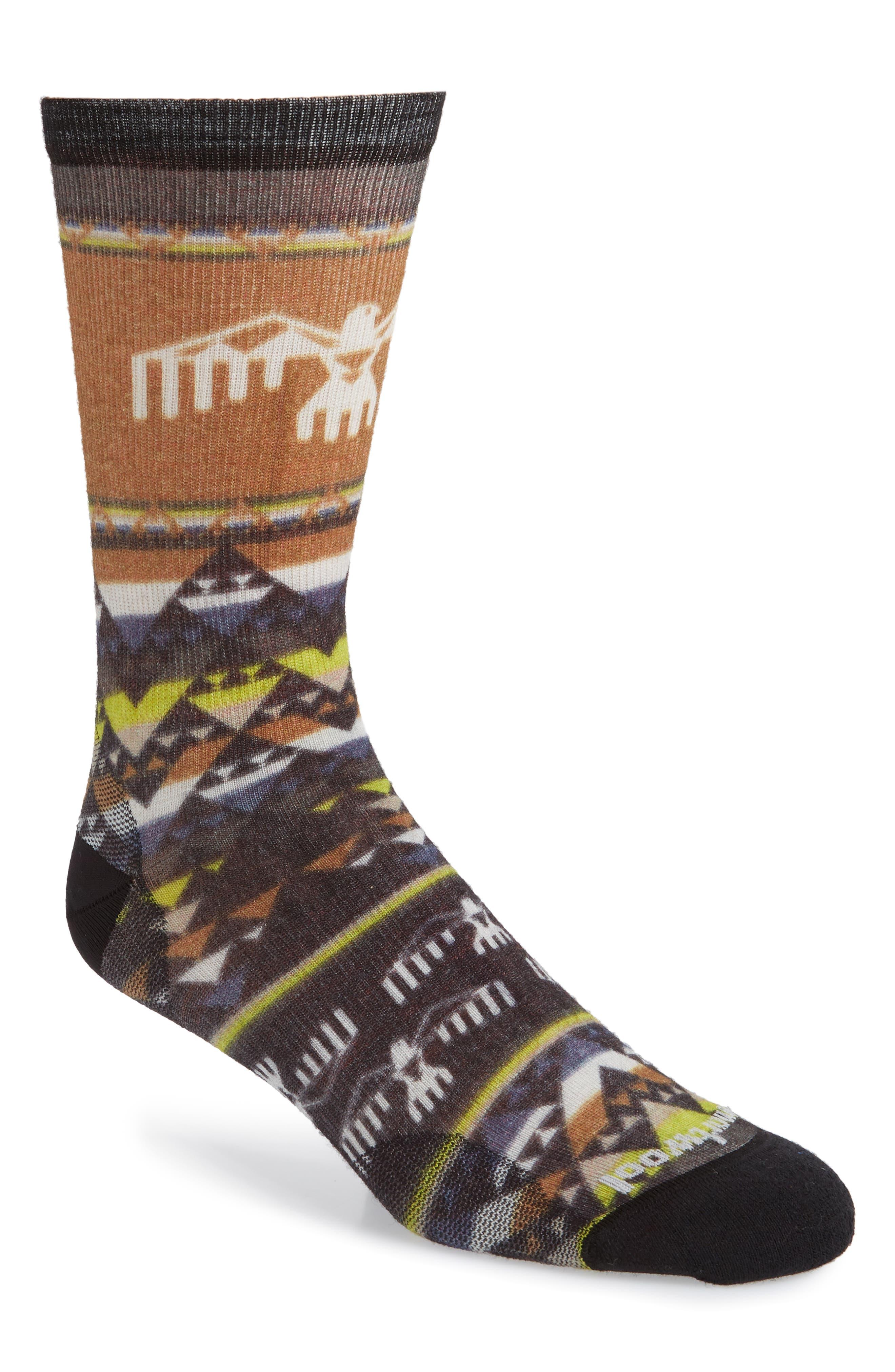 Bird Geometric Socks,                         Main,                         color, NATURAL