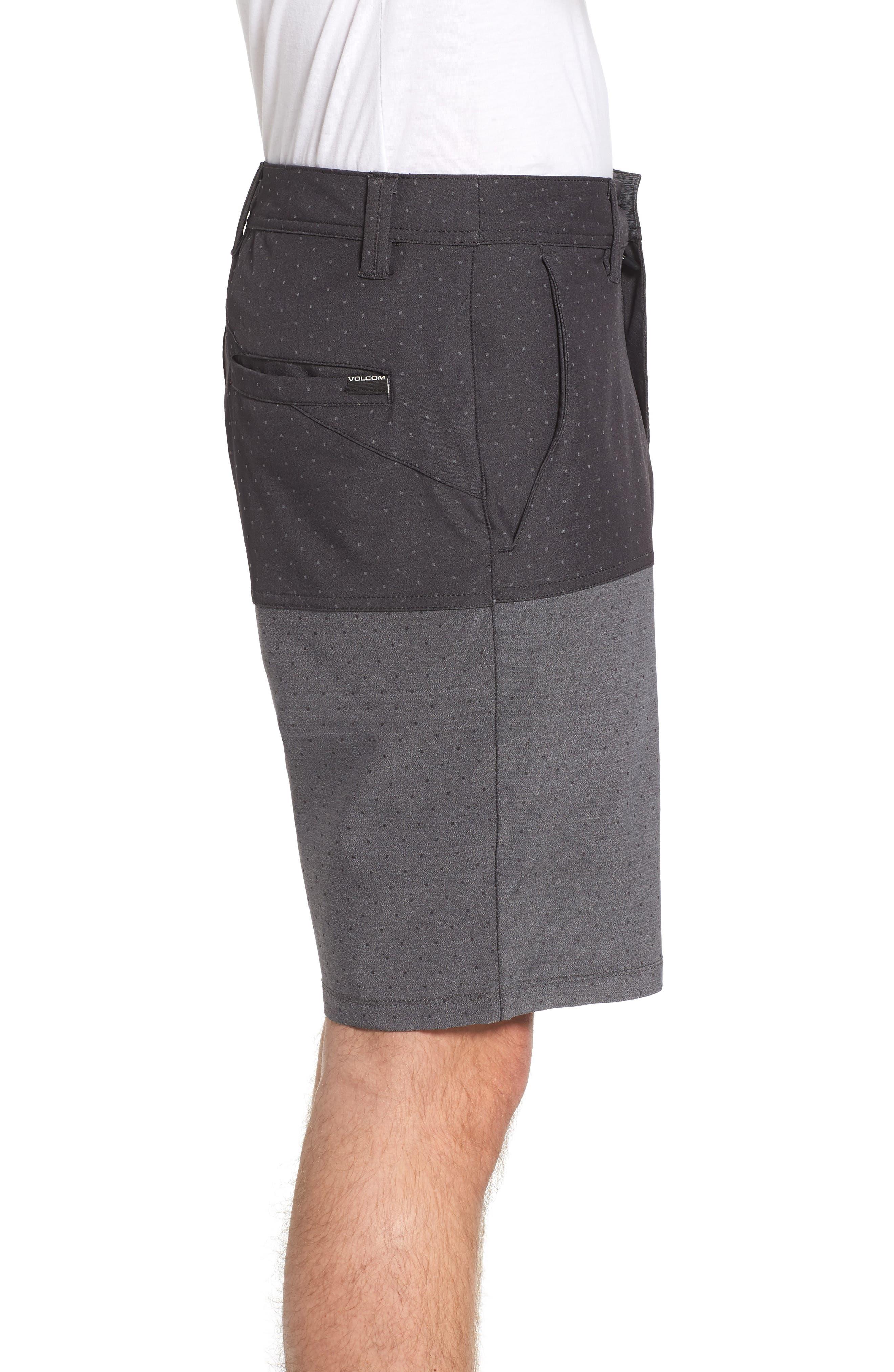 Surf N' Turf Block Hybrid Shorts,                             Alternate thumbnail 3, color,                             001