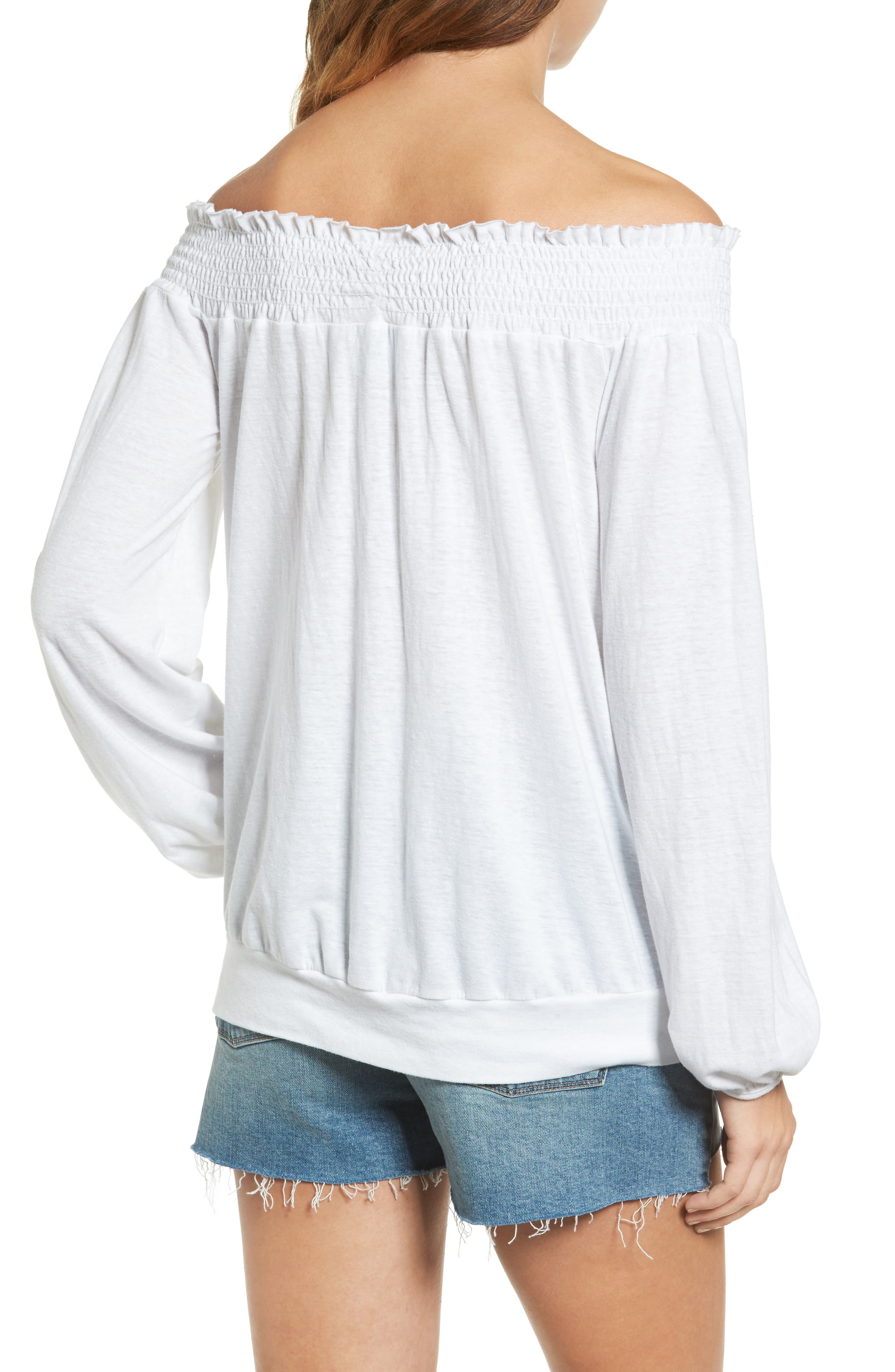 Off the Shoulder Tee,                             Alternate thumbnail 4, color,
