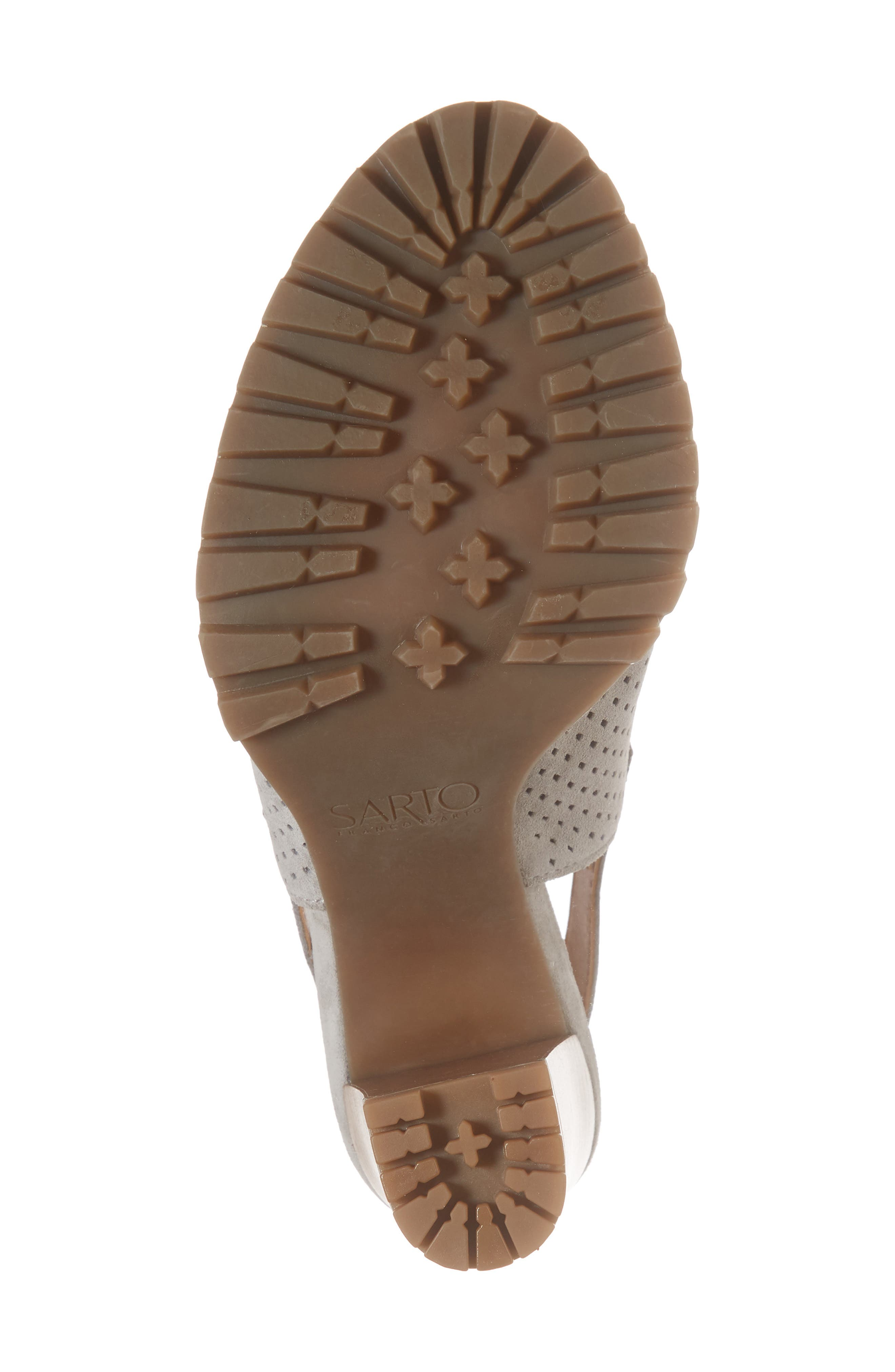Analise Sandal,                             Alternate thumbnail 6, color,                             GREY SUEDE