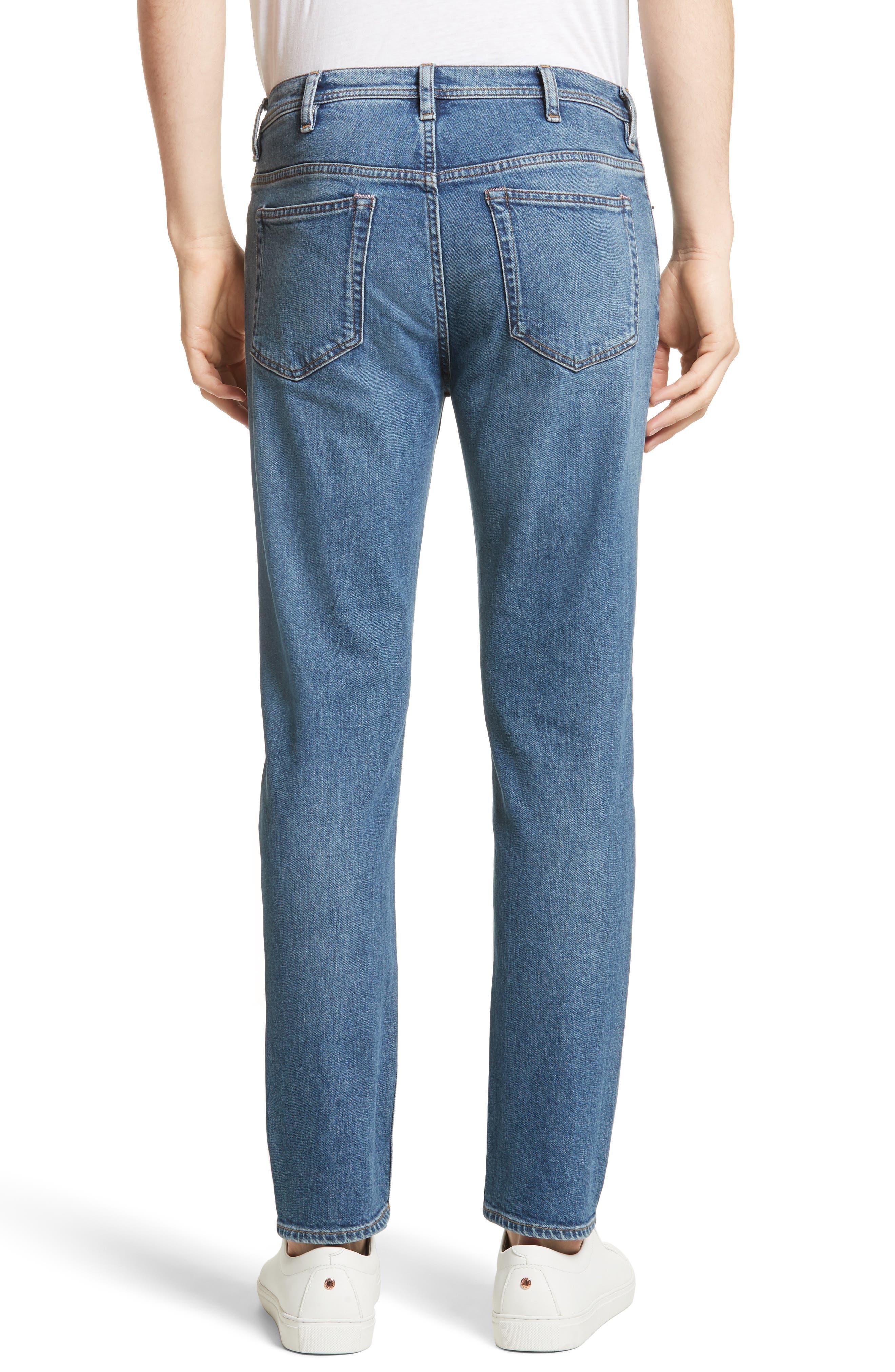 River Slim Taper Jeans,                             Alternate thumbnail 2, color,                             MID BLUE