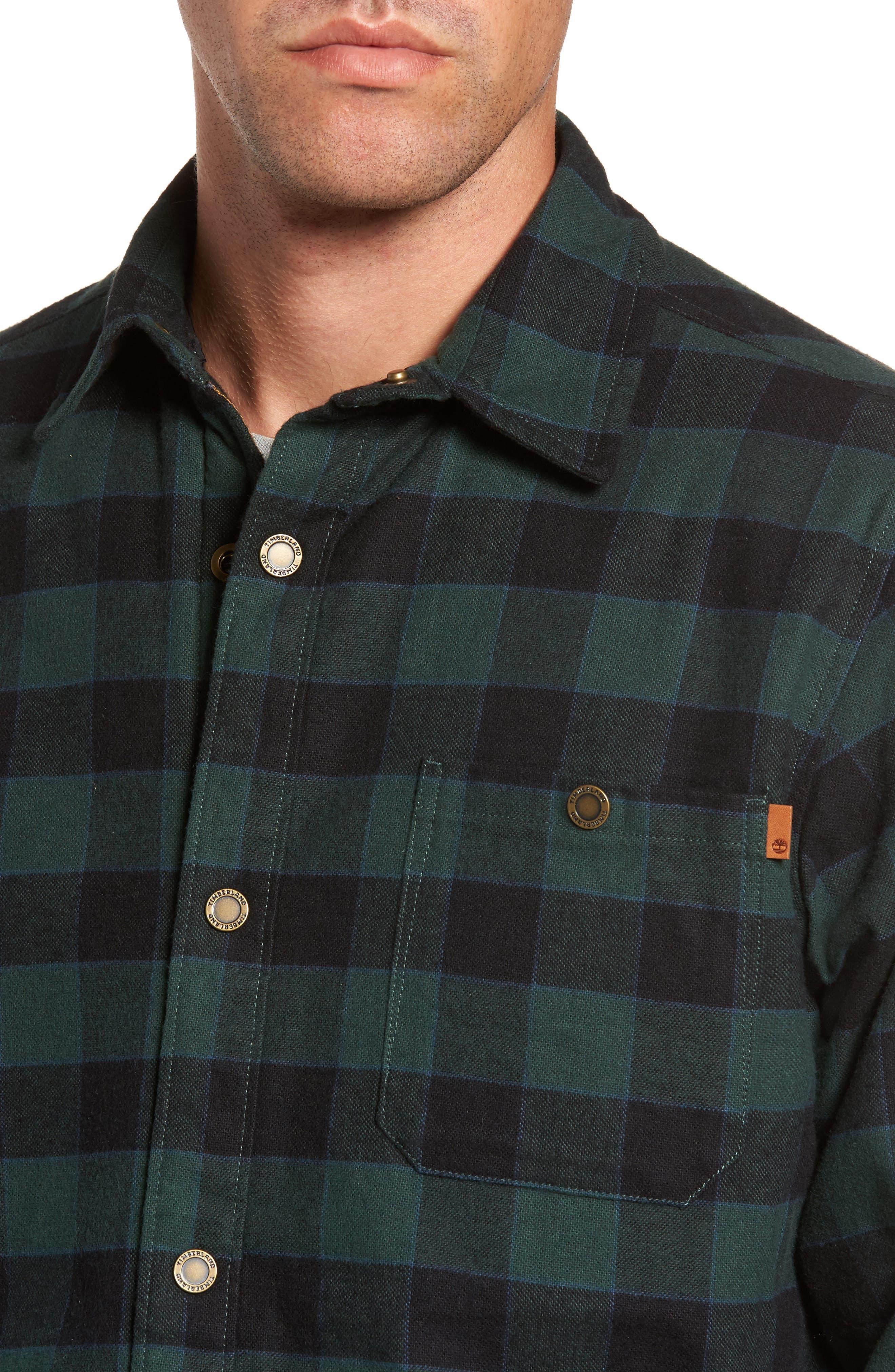 Check Shirt Jacket with Faux Shearling Lining,                             Alternate thumbnail 4, color,                             301