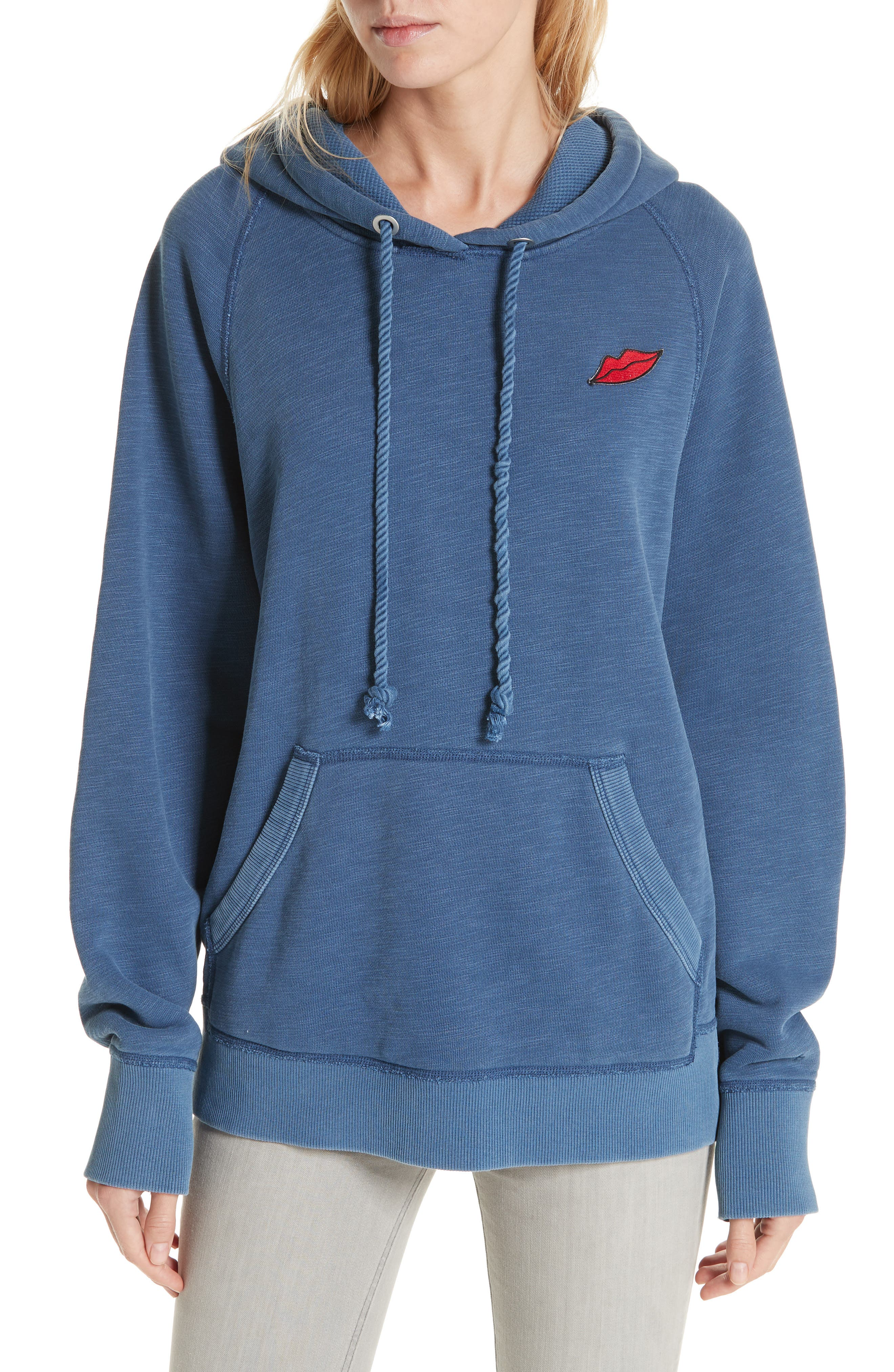 Racer Hoodie,                         Main,                         color, WASHED NAVY