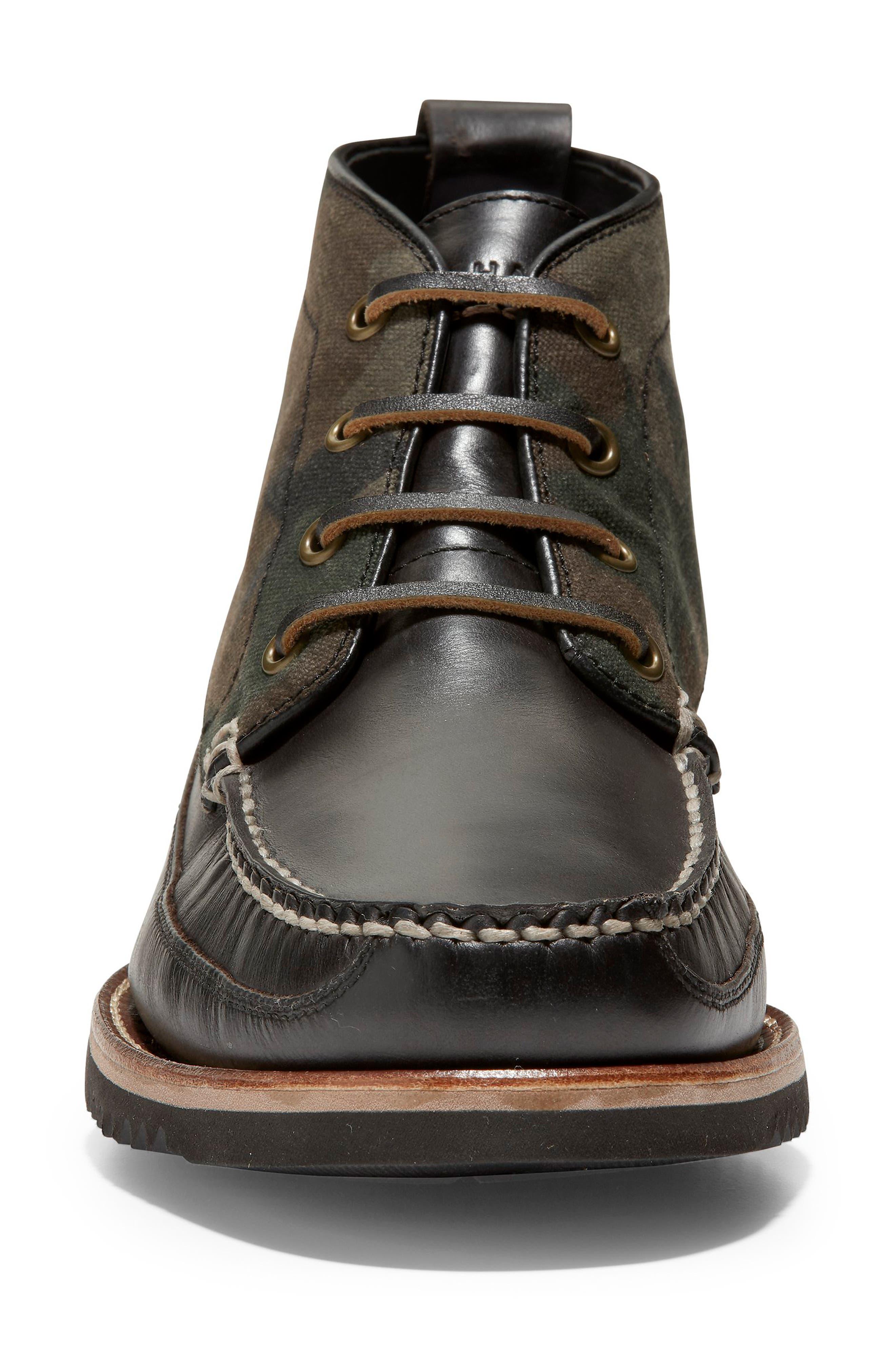 Pinch Moc Toe Boot,                             Alternate thumbnail 4, color,                             CAMO CAVAS
