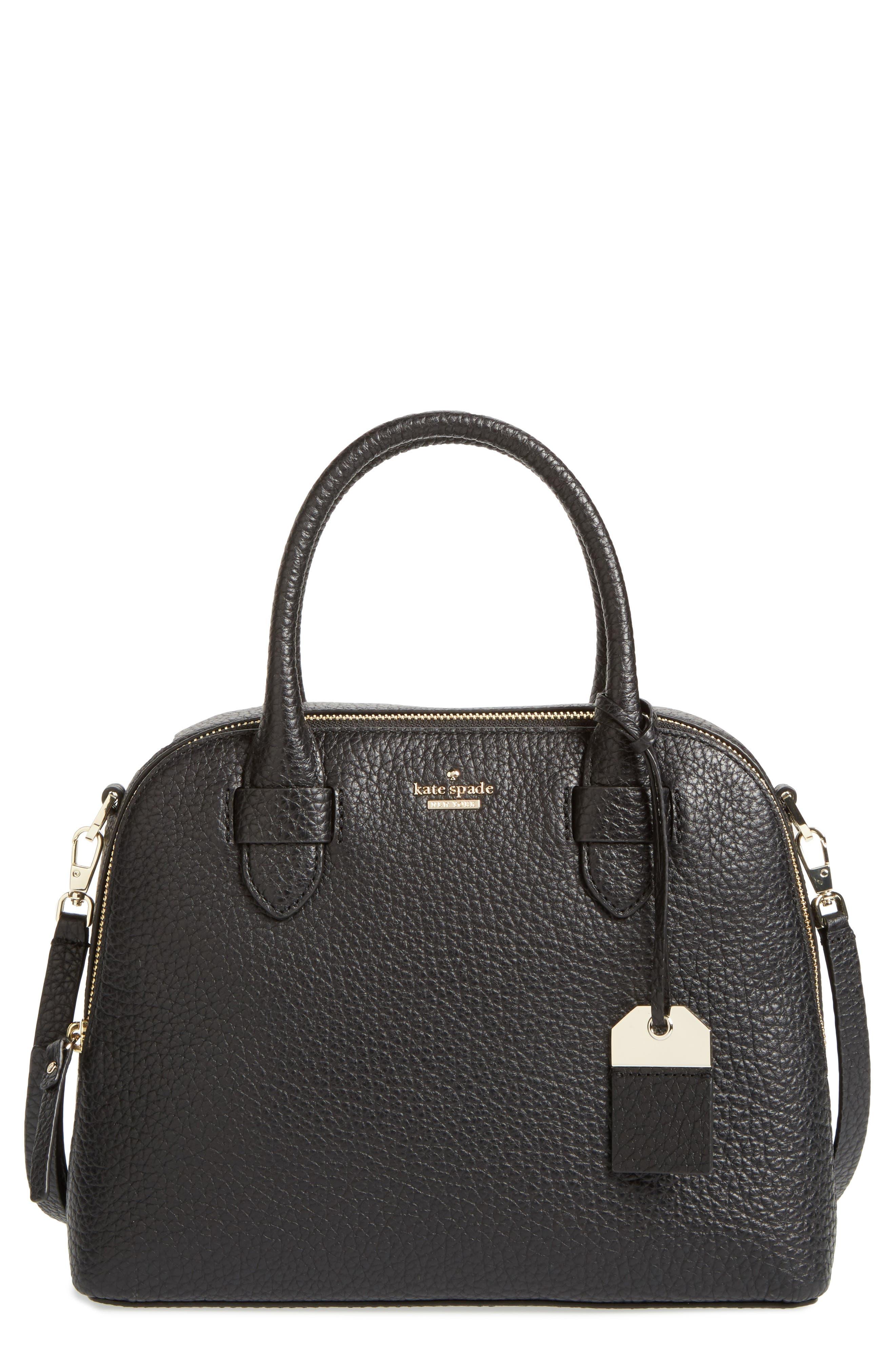 carter street - small ashleigh leather satchel,                             Main thumbnail 1, color,                             001