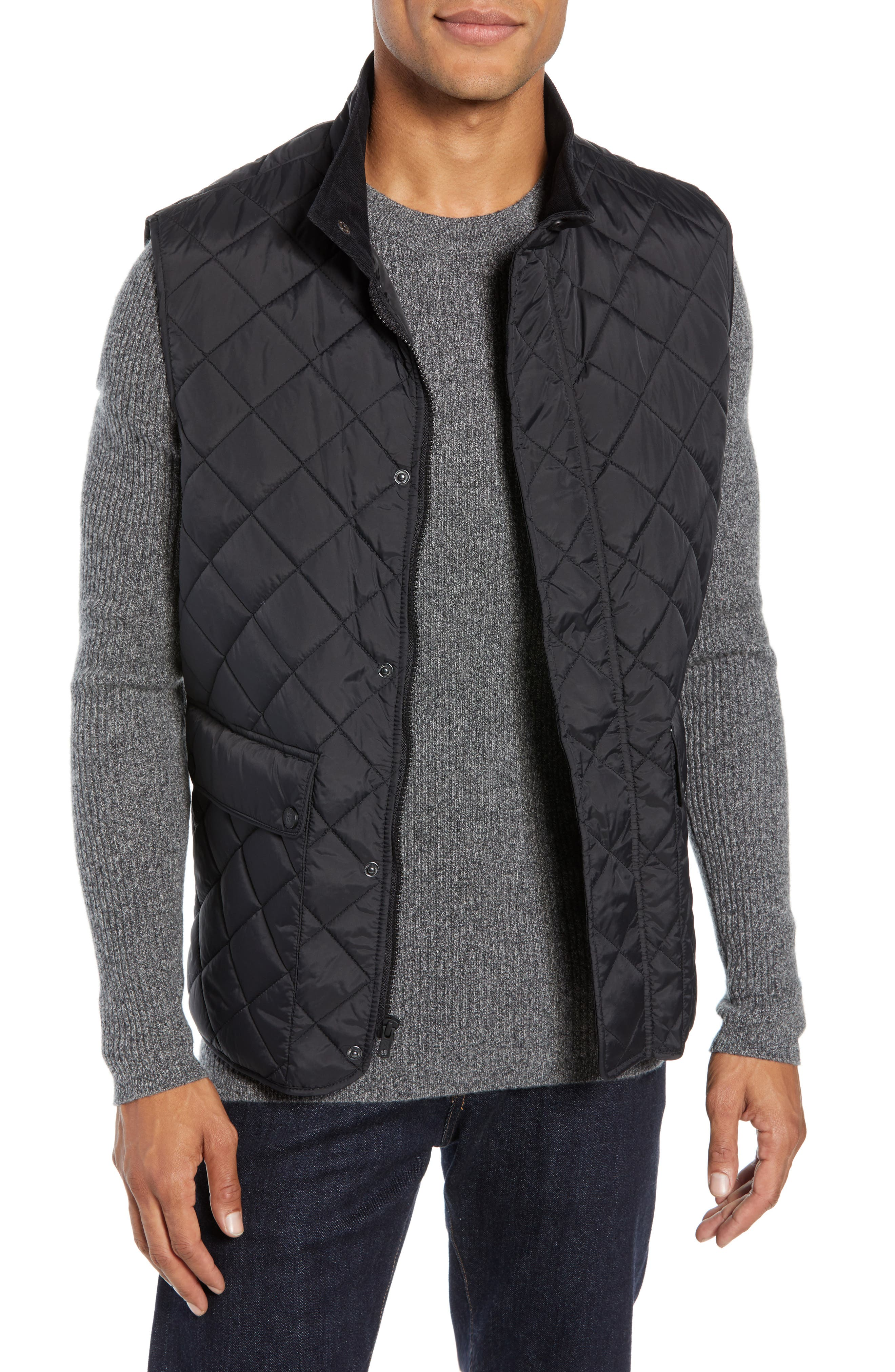 Vince Camuto Diamond Quilted Vest, Black