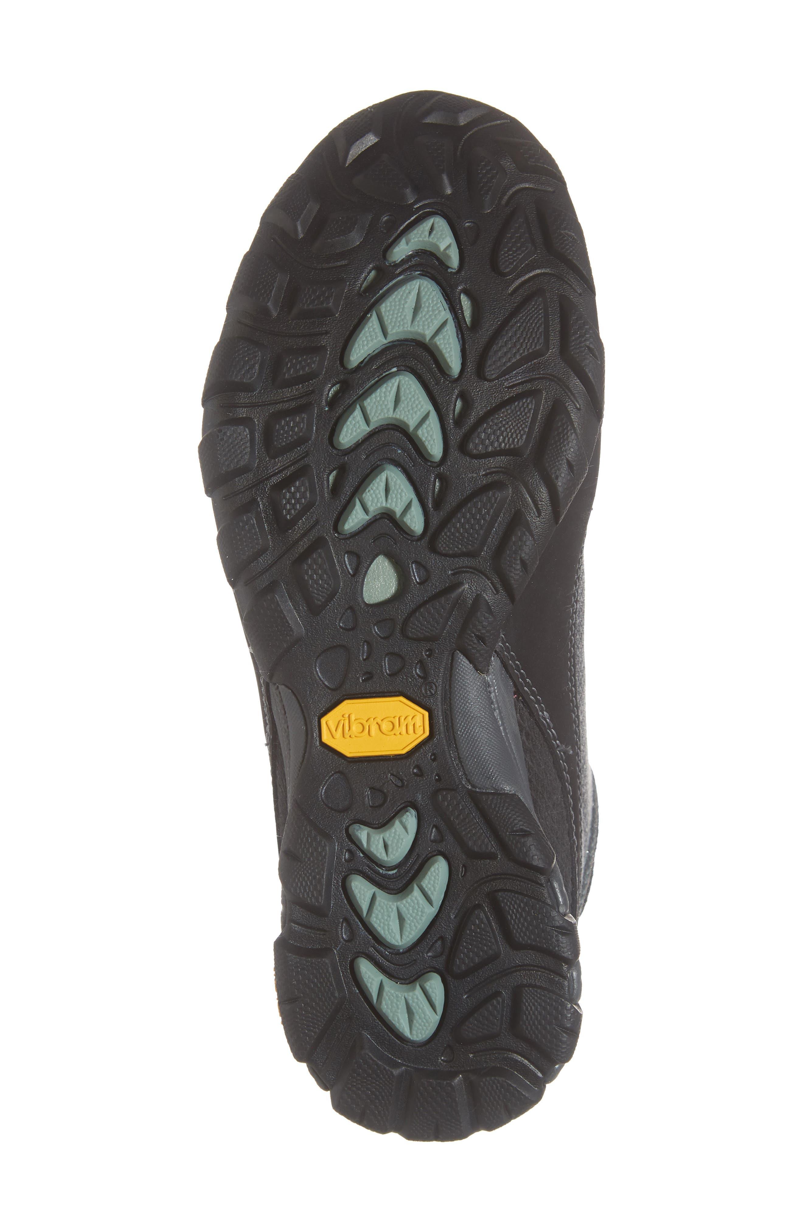 Ahnu by Teva Sugarpine II Waterproof Hiking Boot,                             Alternate thumbnail 6, color,                             BLACK/ GREEN BAY FABRIC