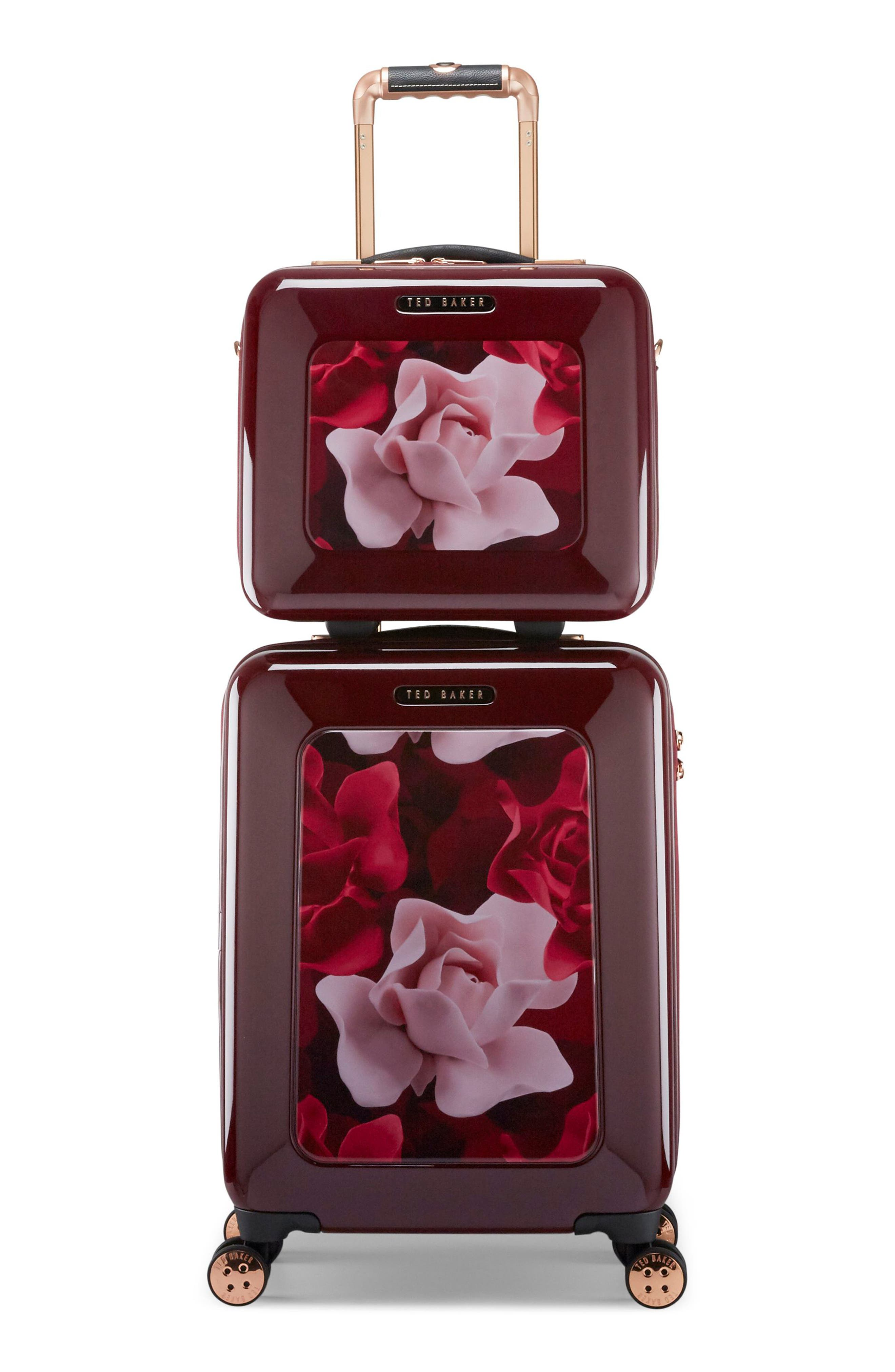 Small Porcelain Rose 21-Inch Spinner Carry-On,                             Alternate thumbnail 6, color,                             930
