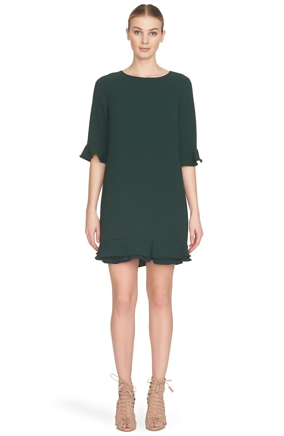 'Kate' Ruffle Hem Shift Dress,                             Alternate thumbnail 22, color,