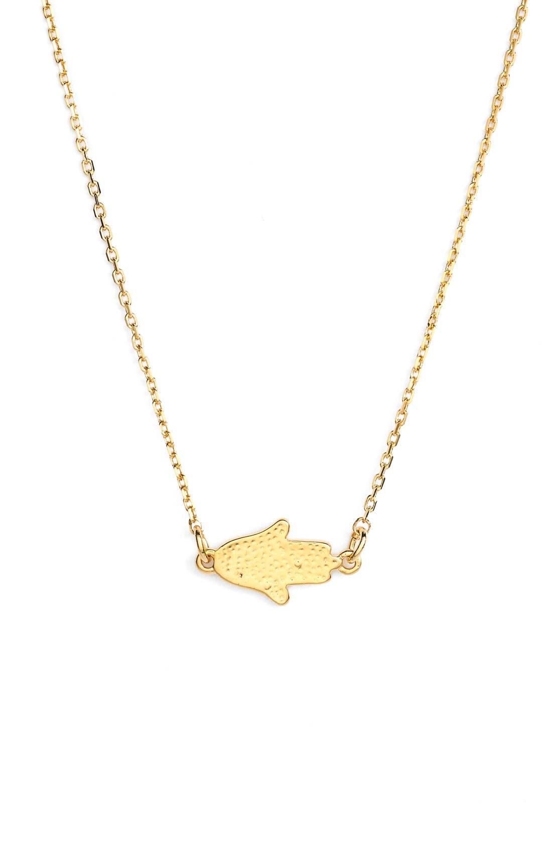 'Modern Metallics' 14k-Gold Plate Layered Necklace,                             Alternate thumbnail 5, color,