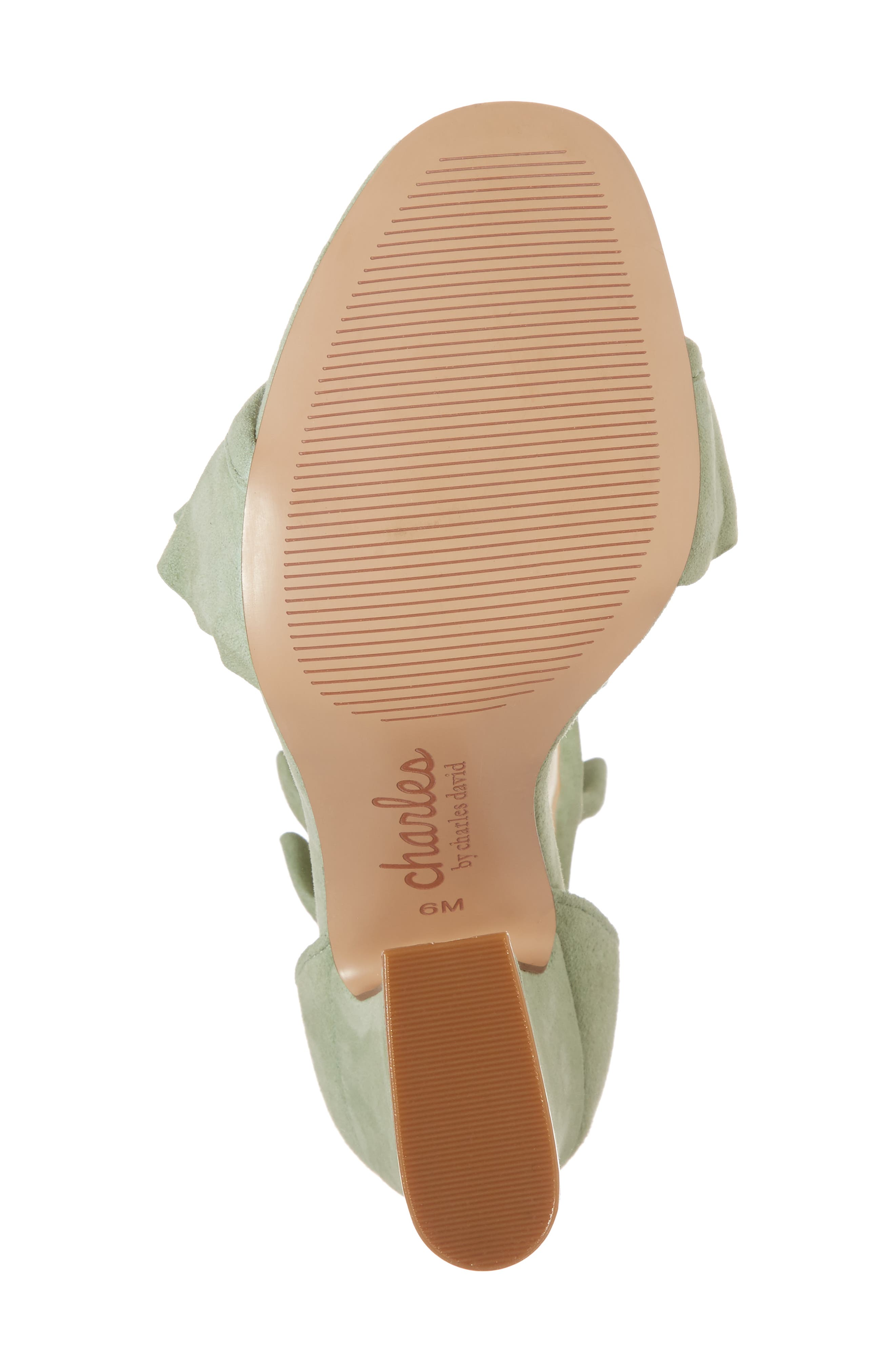 Haley Ruffle Sandal,                             Alternate thumbnail 6, color,                             MINT SUEDE