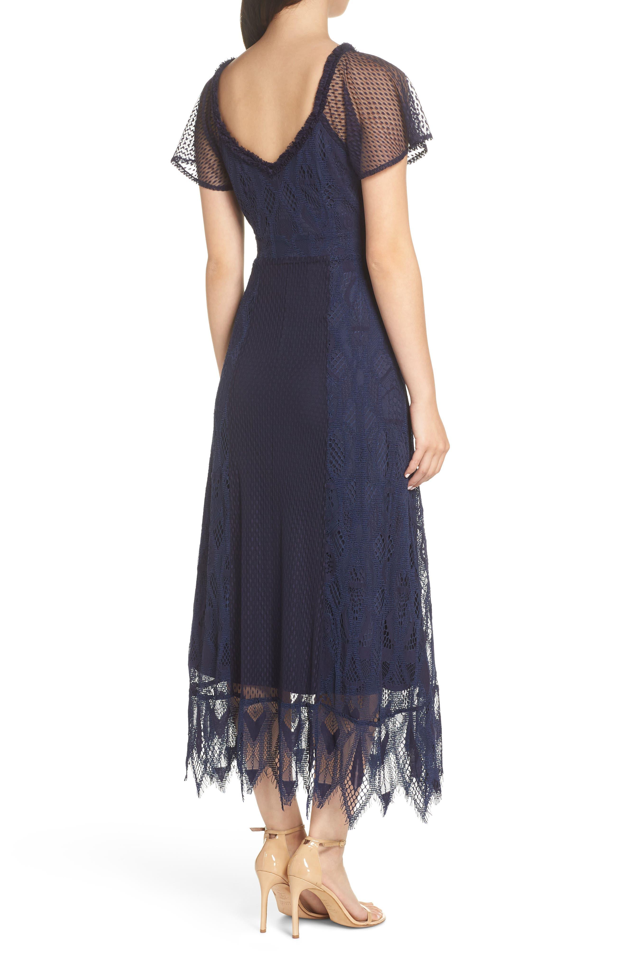 Gloria Lace Midi Dress,                             Alternate thumbnail 2, color,                             410