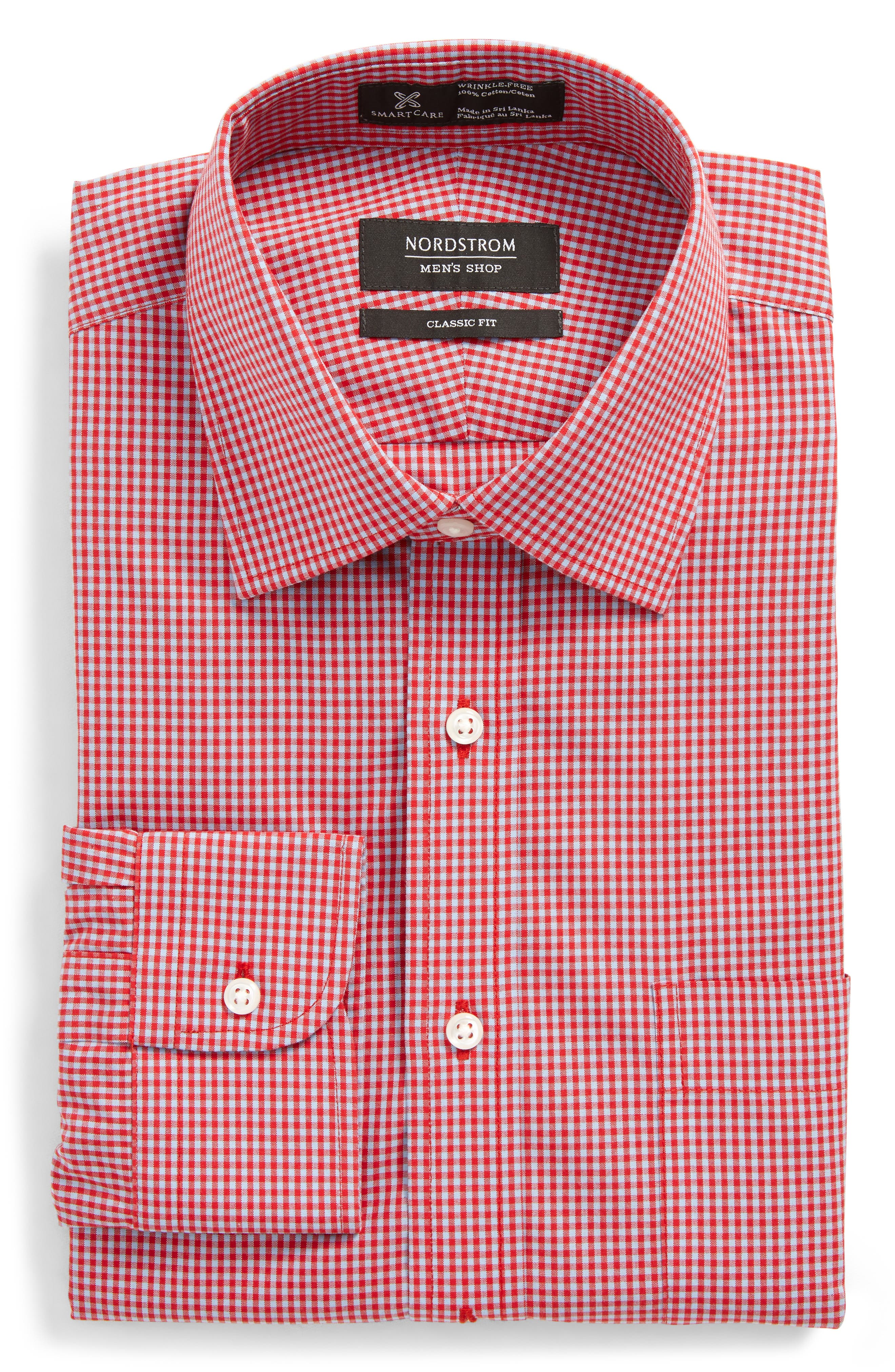 Smartcare Classic Fit Check Dress Shirt,                             Alternate thumbnail 20, color,