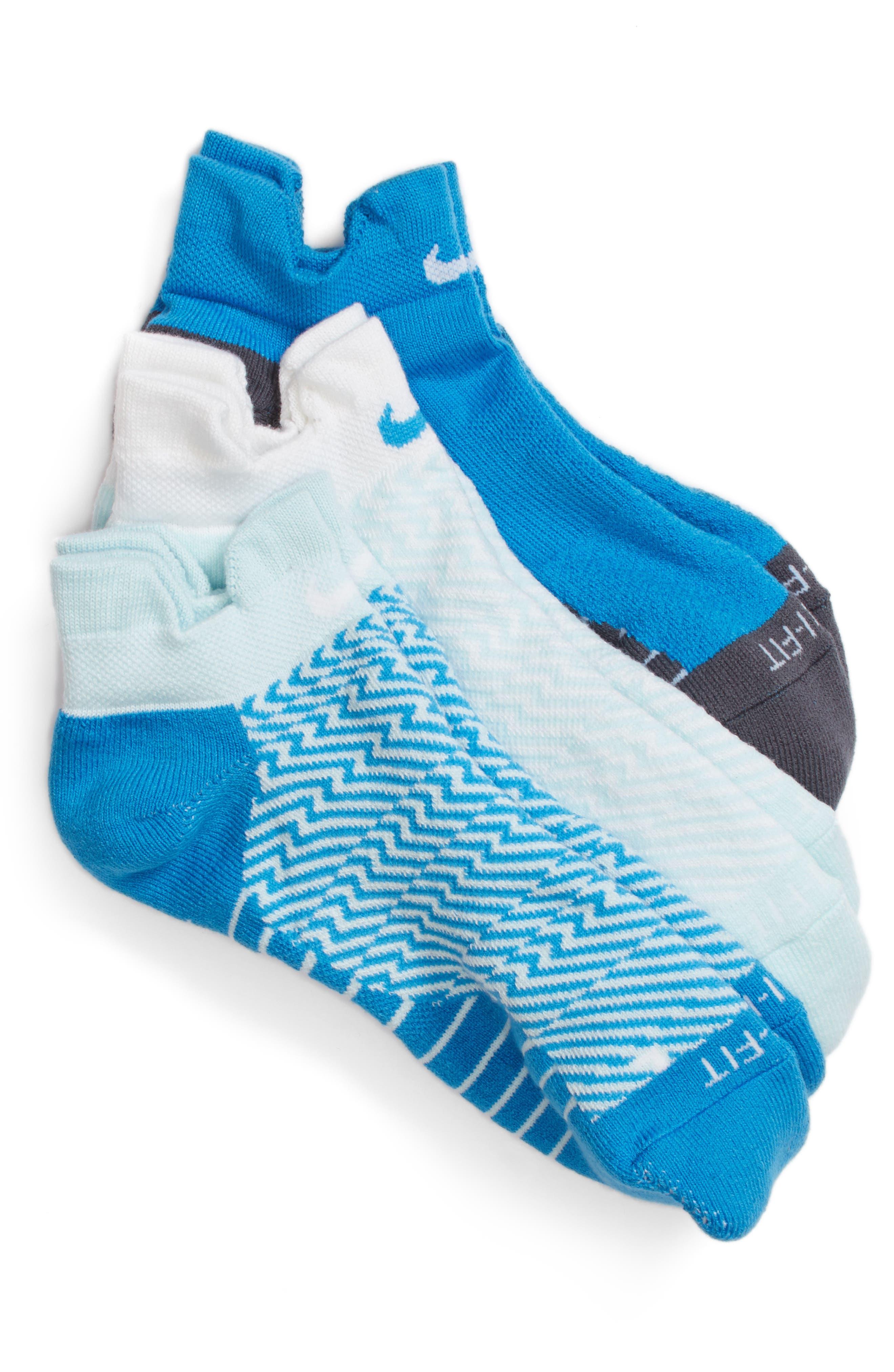 Elite 3-Pack Reflective Running Tab Socks,                             Main thumbnail 3, color,