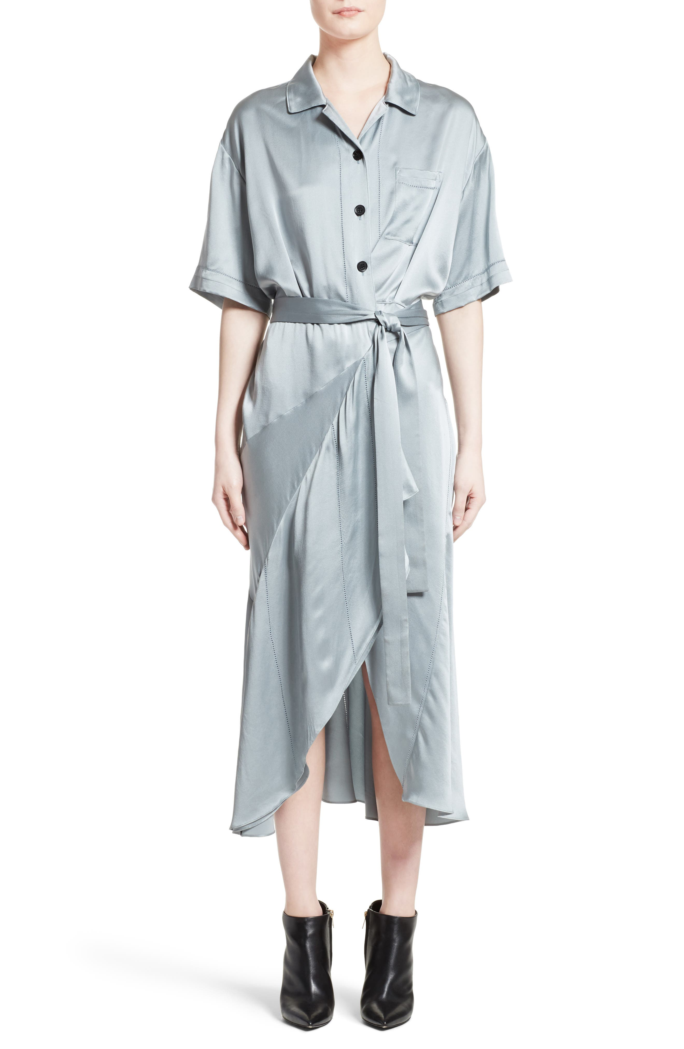 Emily Silk Shirtdress,                         Main,                         color, 452