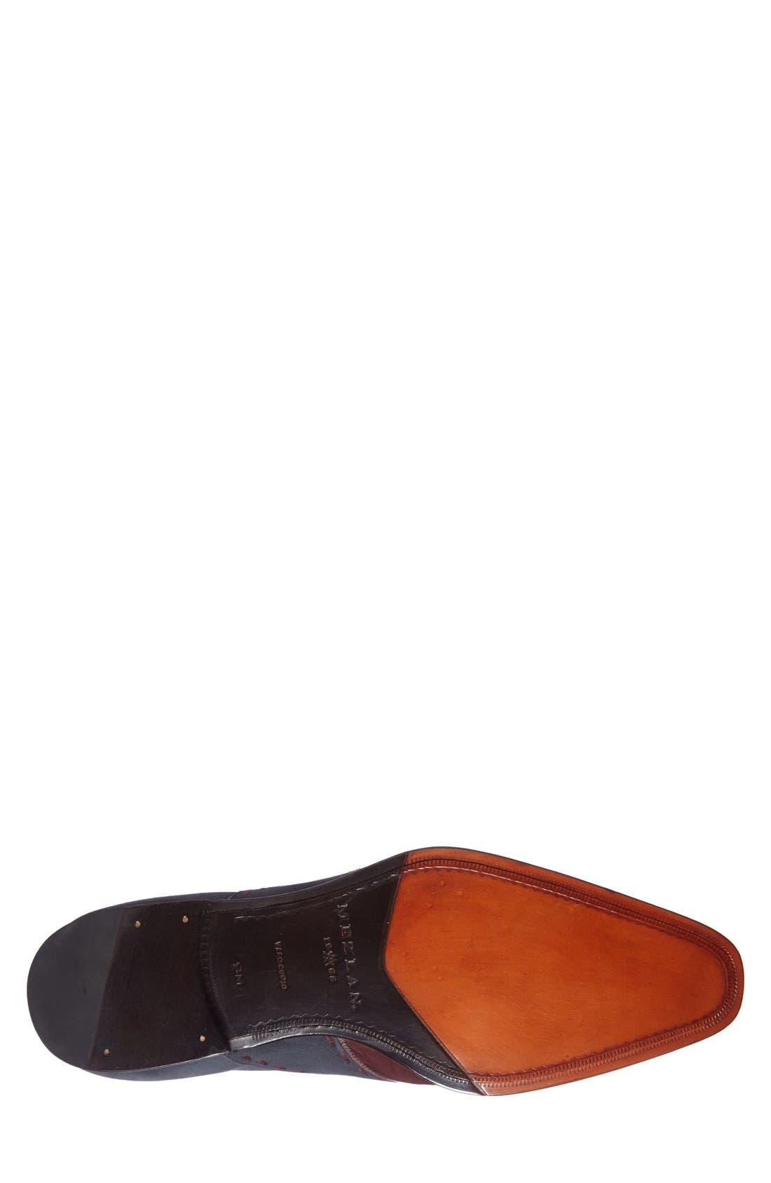 'Ronda' Spectator Shoe,                             Alternate thumbnail 4, color,                             BURGUNDY/ GREY