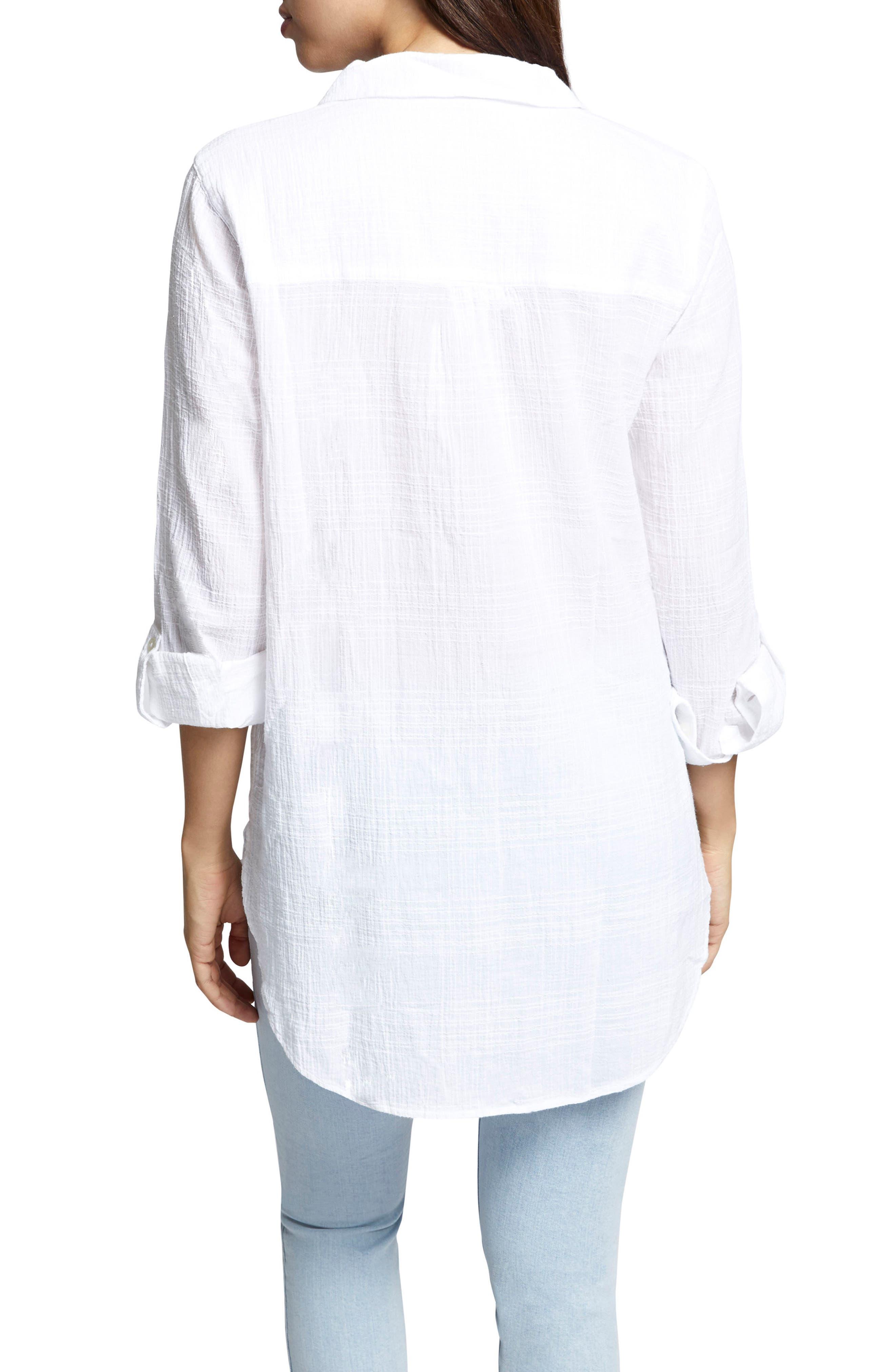 Linen Blend Gauze Tunic Top,                             Alternate thumbnail 2, color,                             114