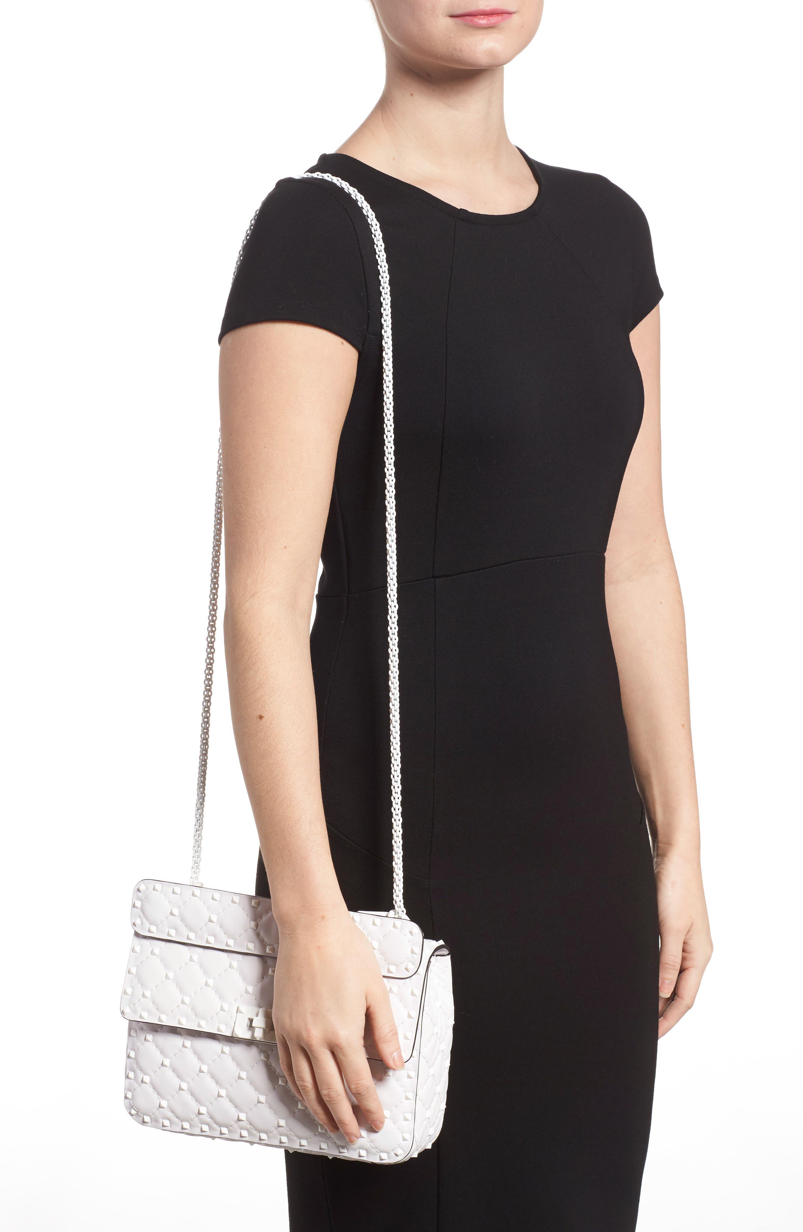 Medium Rockstud Matelassé Leather Shoulder Bag,                             Alternate thumbnail 5, color,