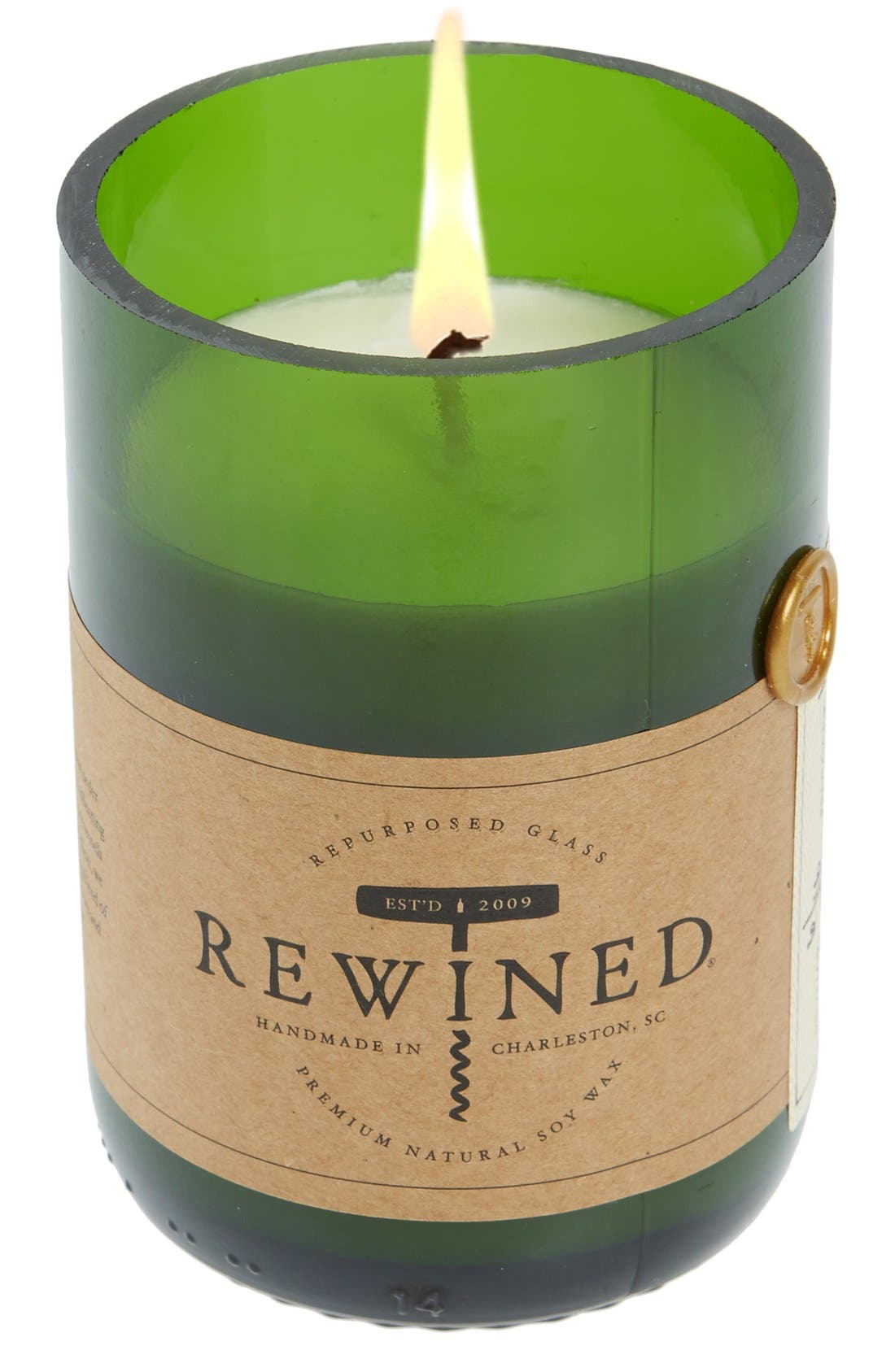 Soy Wax Wine Bottle Candle, Main, color, 301
