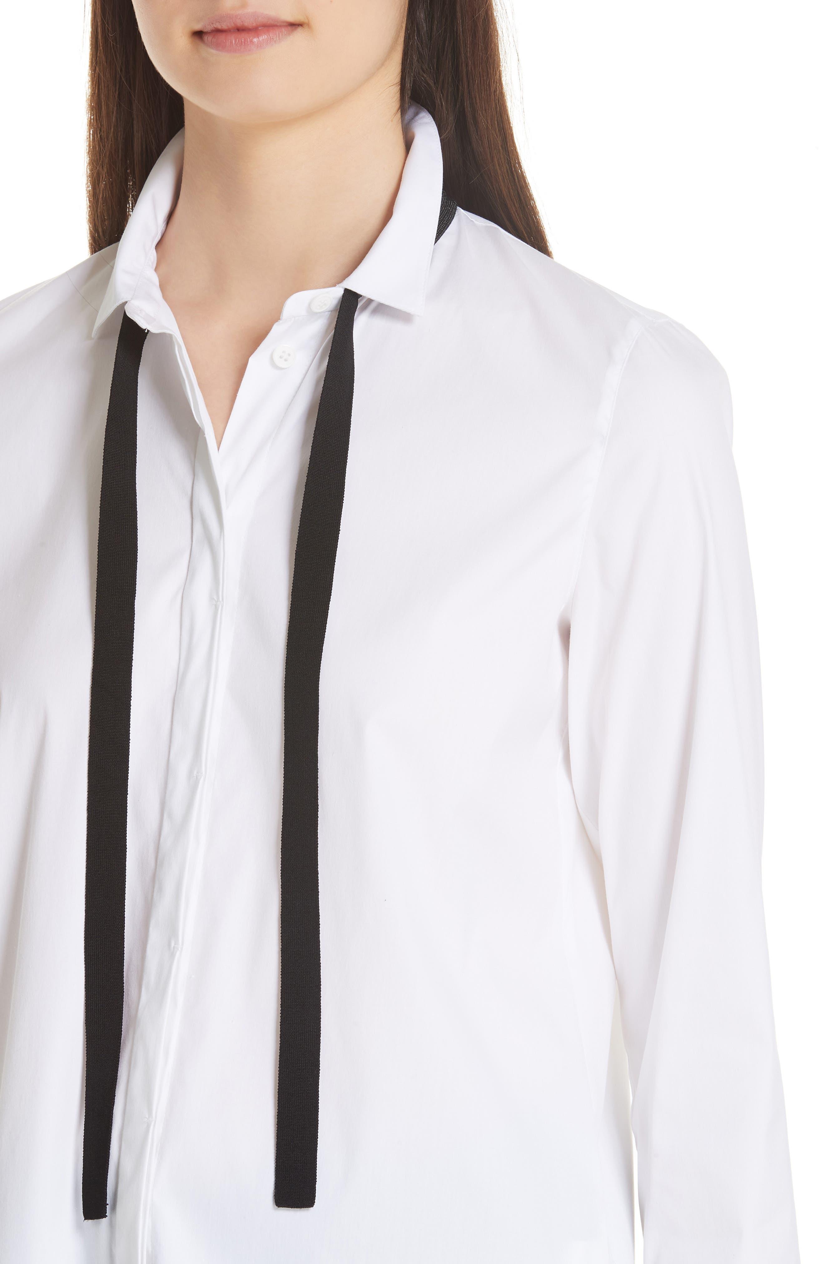 Annaliese Shirt,                             Alternate thumbnail 6, color,                             WHITE