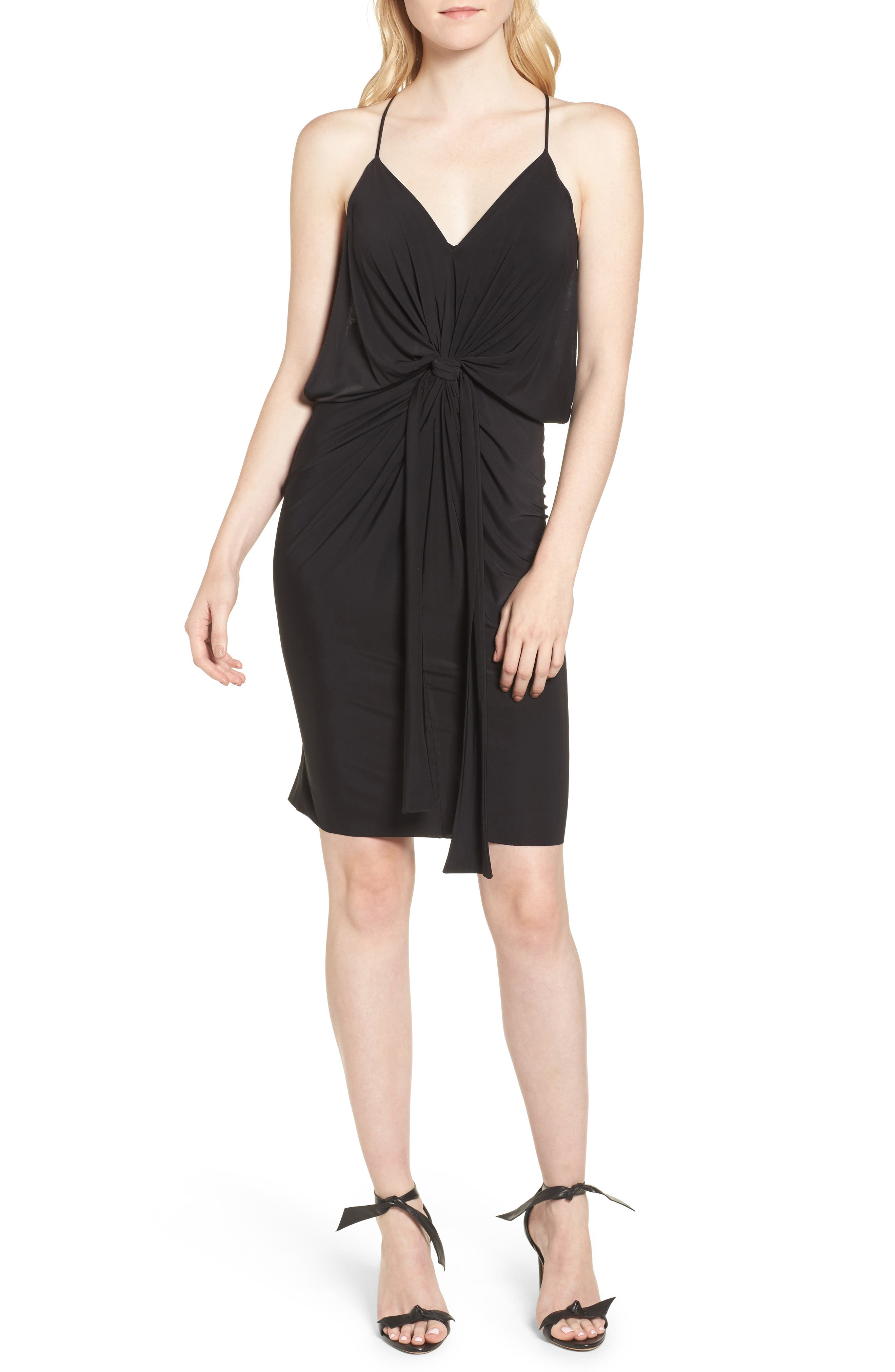 MISA LOS ANGELES,                             Domino Dress,                             Alternate thumbnail 4, color,                             001