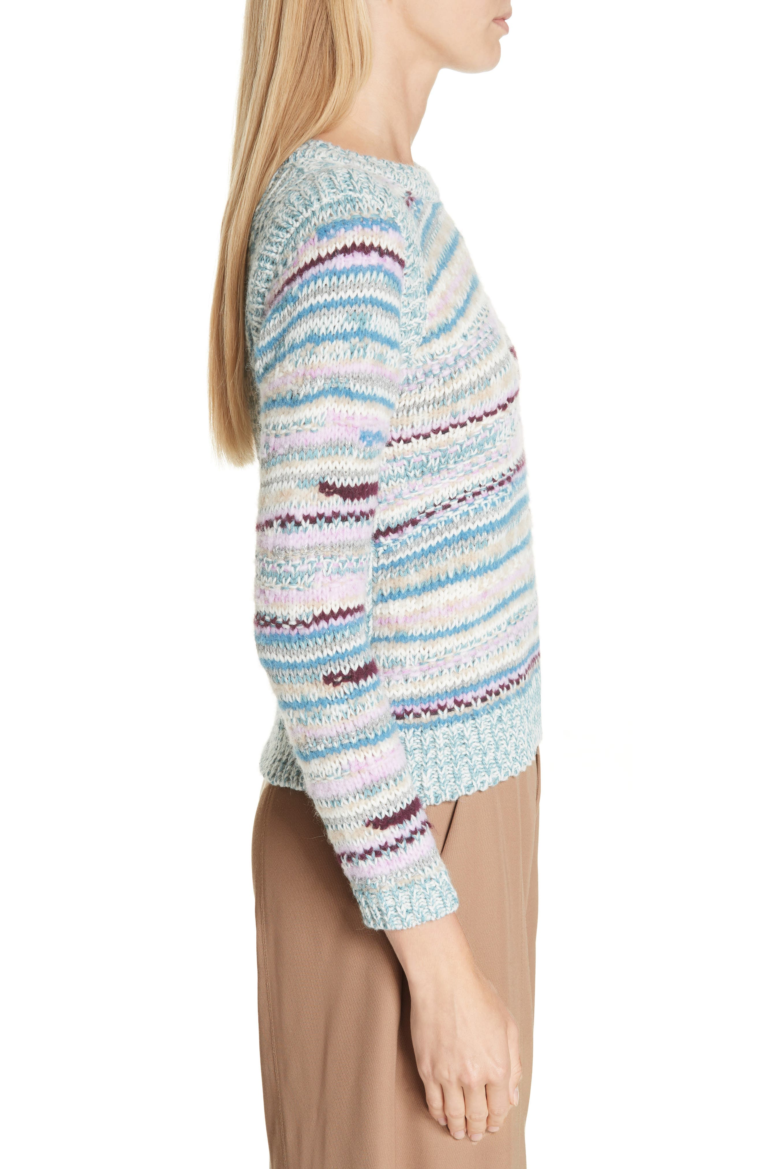 Knit Pullover,                             Alternate thumbnail 3, color,                             DUSTY BLUE
