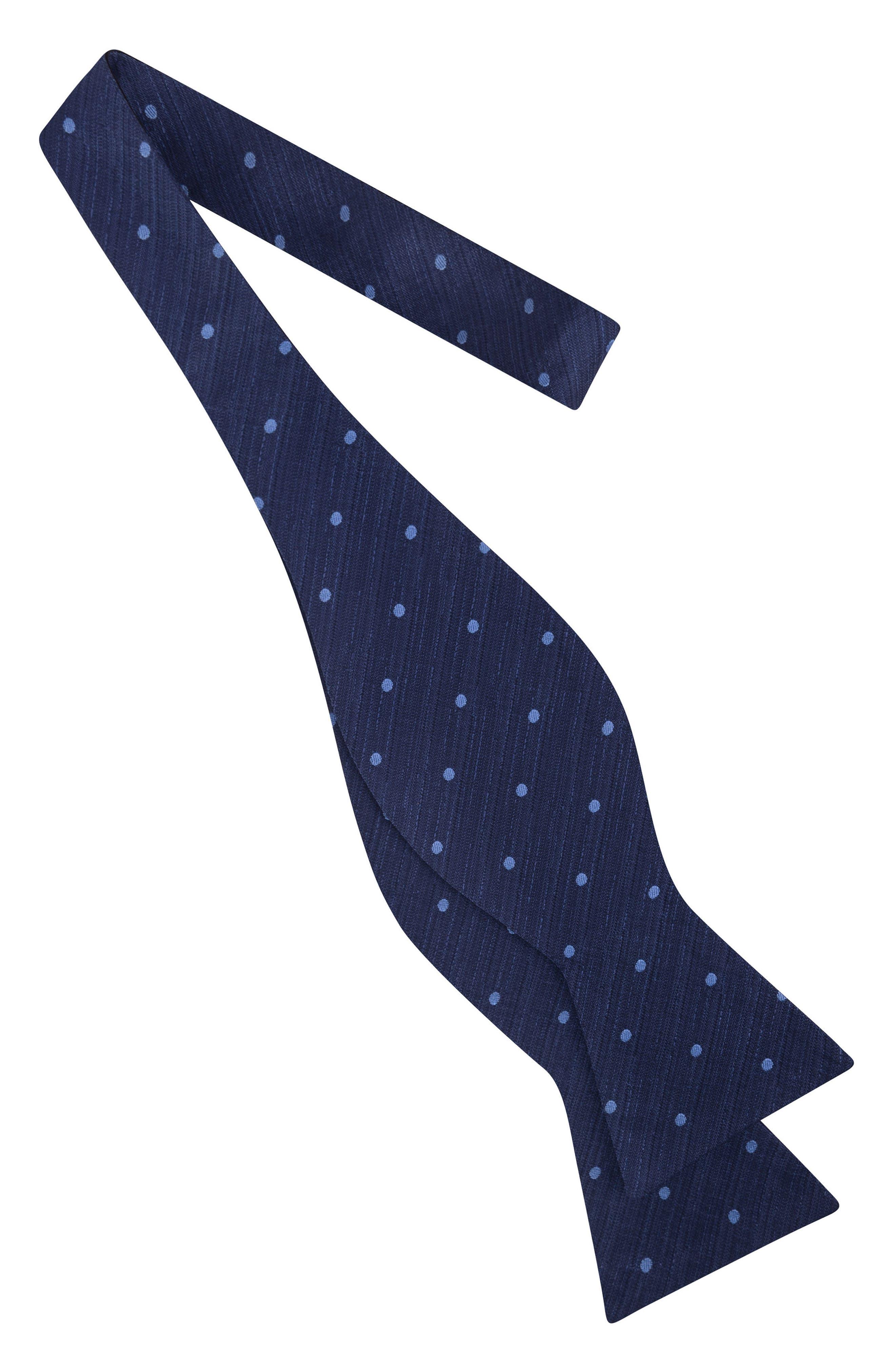 Grand Dot Silk Bow Tie,                             Alternate thumbnail 5, color,