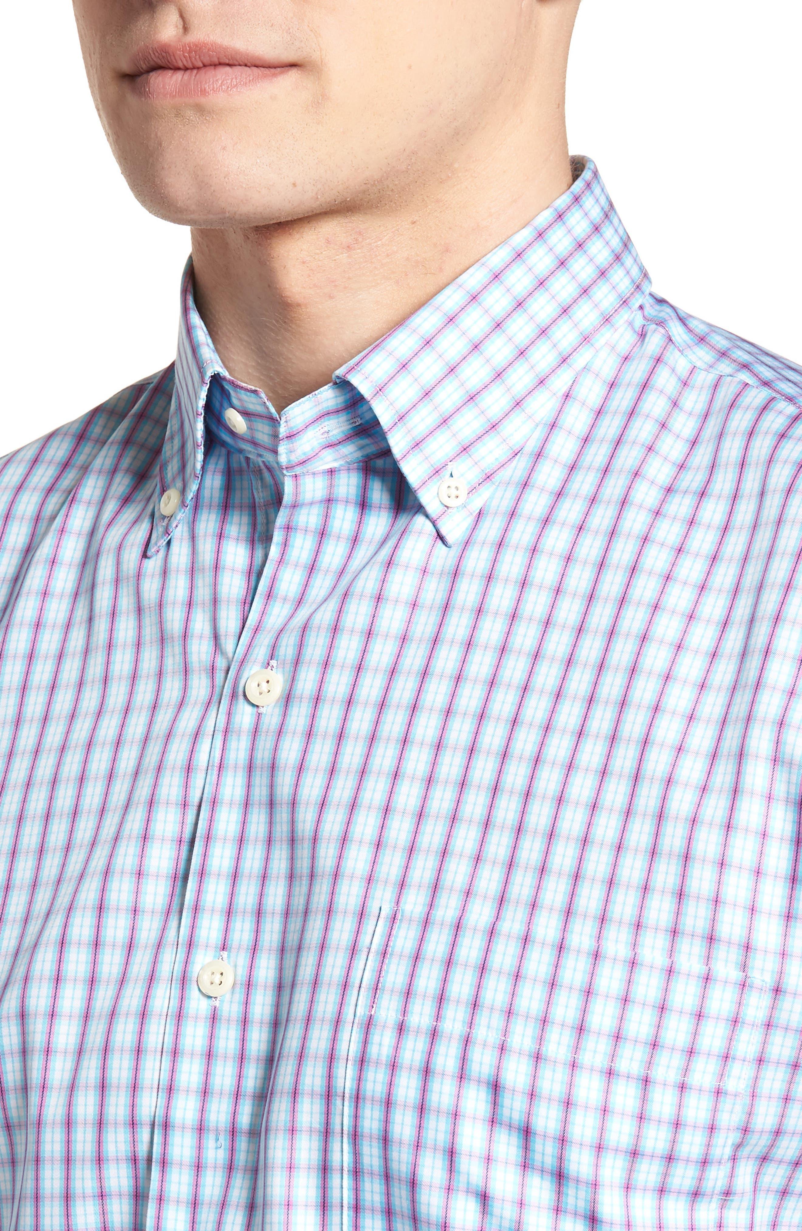 Crown Soft Carlsplaid Regular Fit Sport Shirt,                             Alternate thumbnail 4, color,                             URCHIN