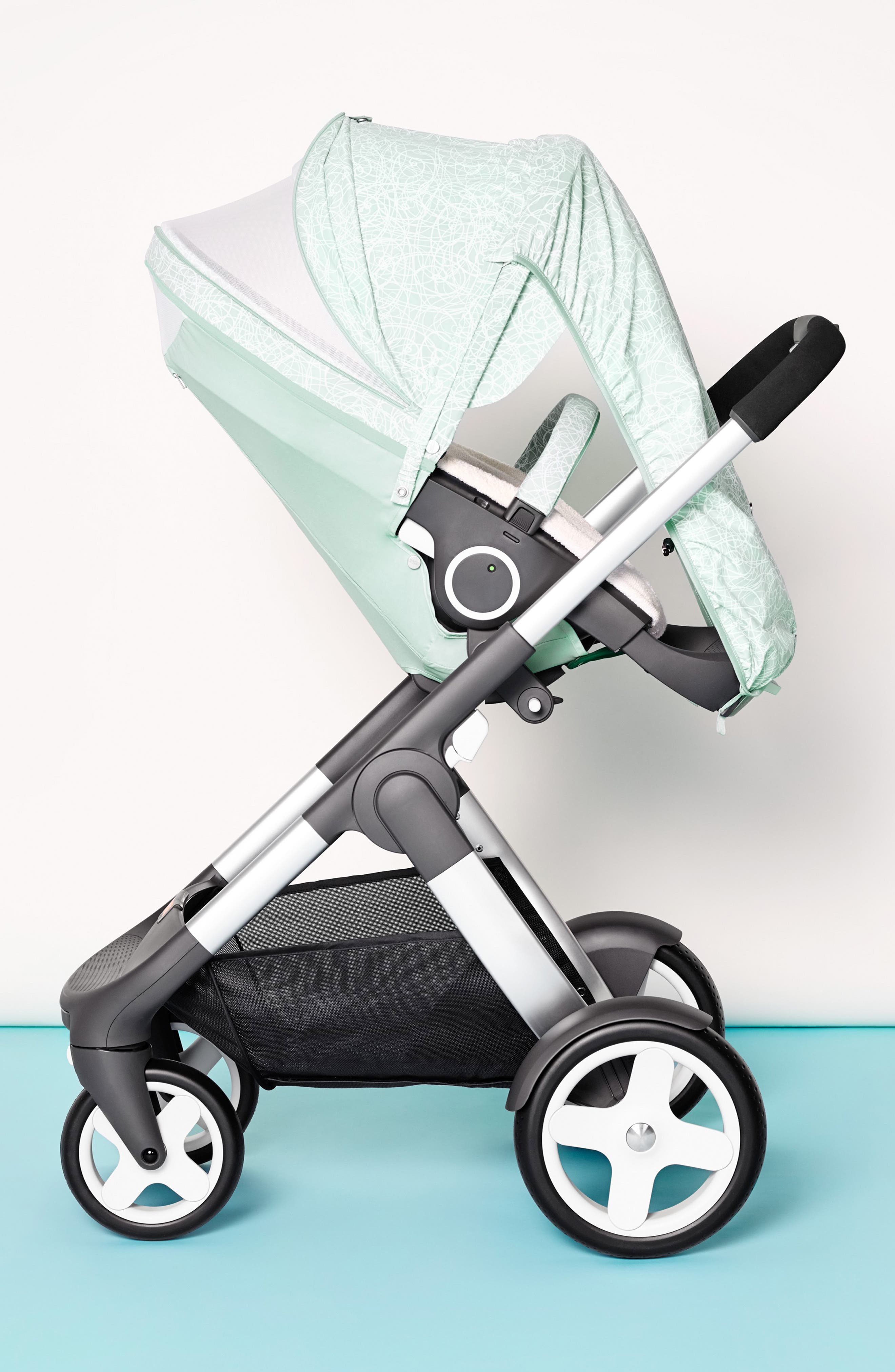 Baby 'Xplory<sup>®</sup> Stroller Summer Kit' Shade Set,                             Alternate thumbnail 7, color,                             SALTY BLUE