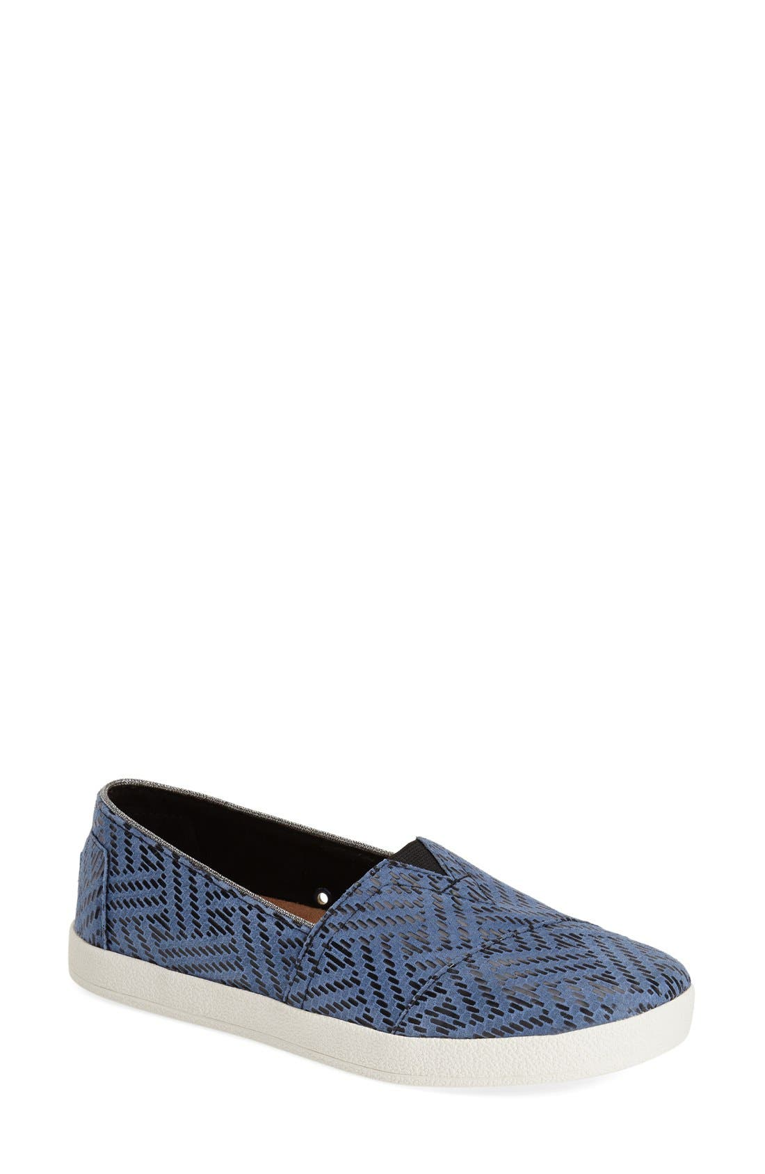 TOMS,                             'Avalon' Leather Slip-On,                             Main thumbnail 1, color,                             420