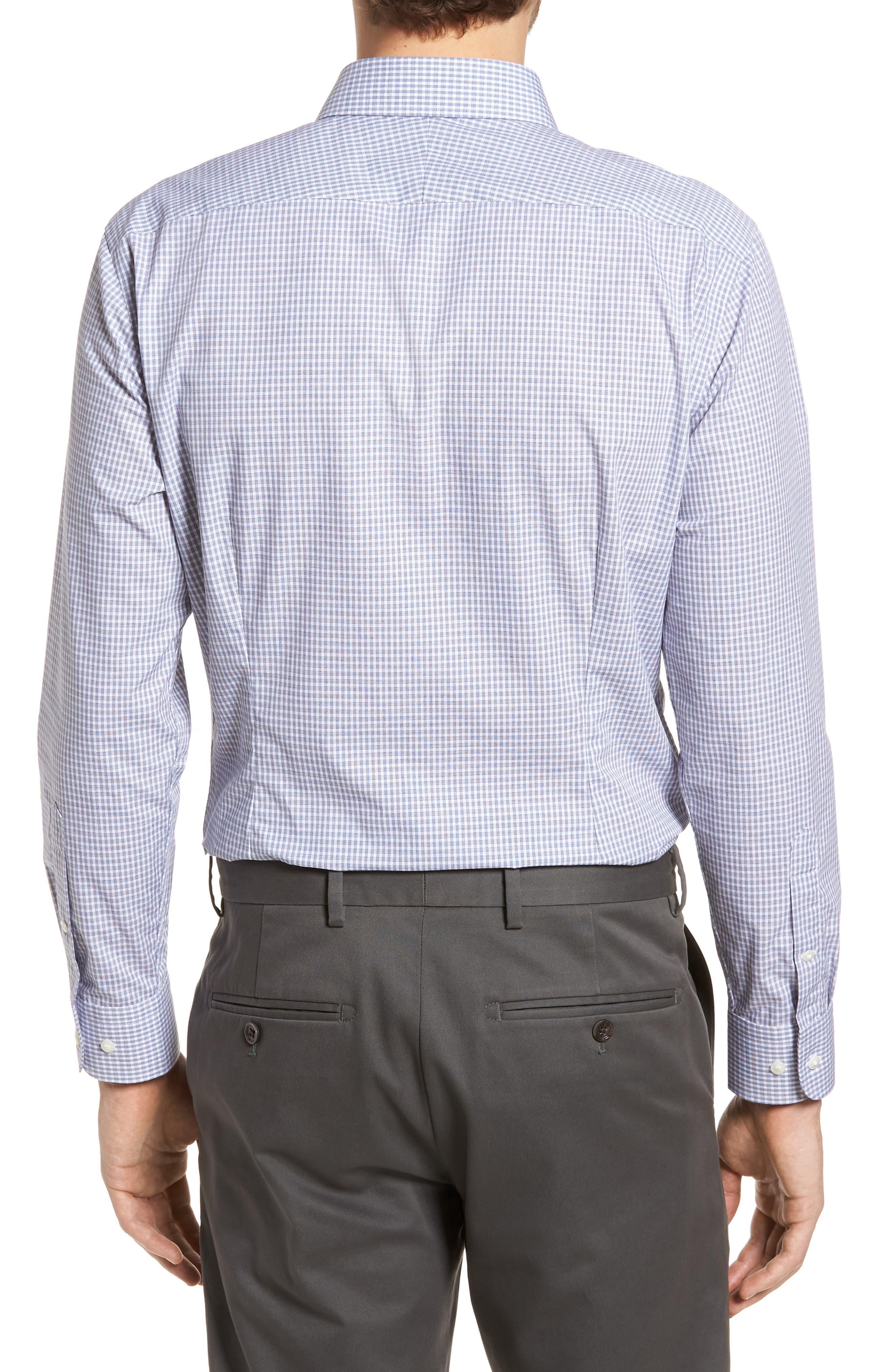 Extra Trim Fit Non-Iron Check Dress Shirt,                             Alternate thumbnail 7, color,