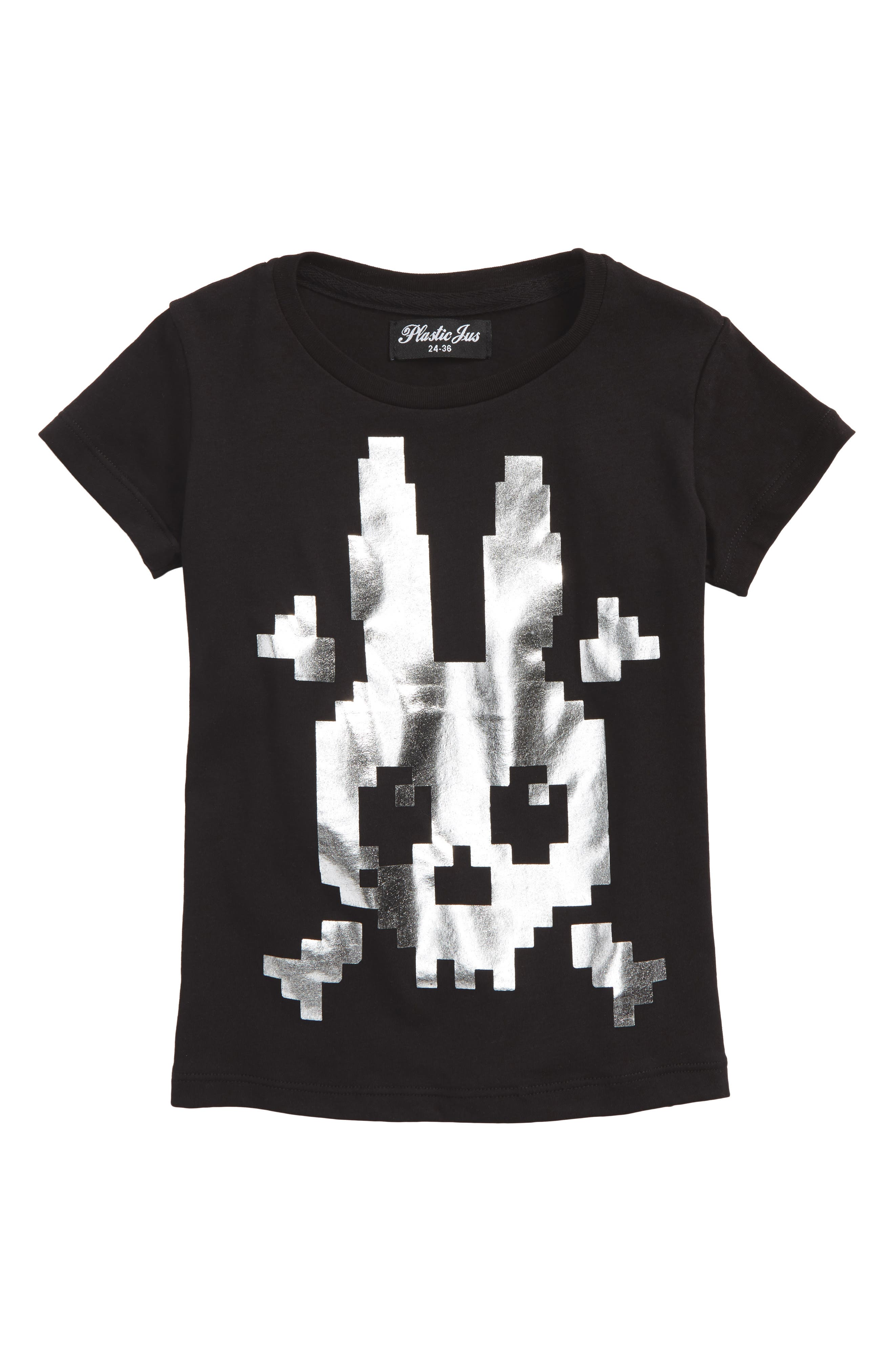 Silver Pirate Bunny Graphic T-Shirt,                         Main,                         color, 001