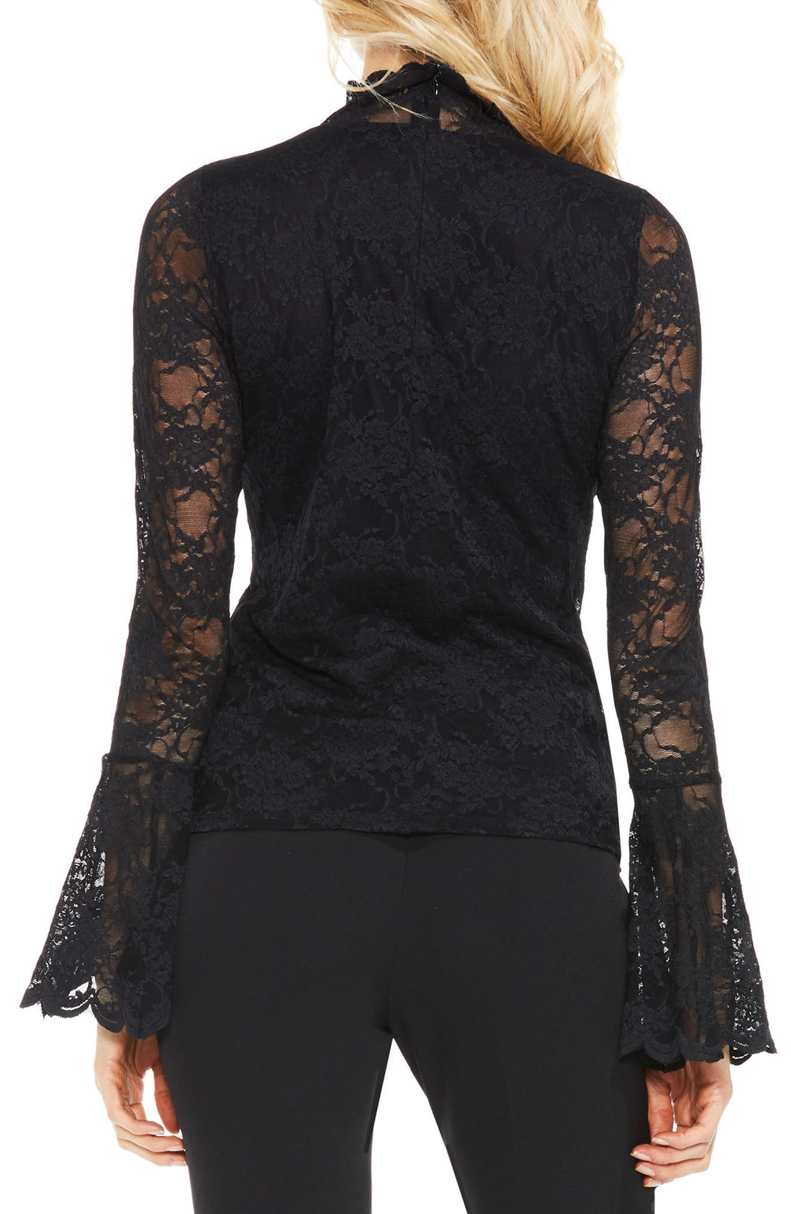 Bell Sleeve Lace Top,                             Alternate thumbnail 2, color,                             006