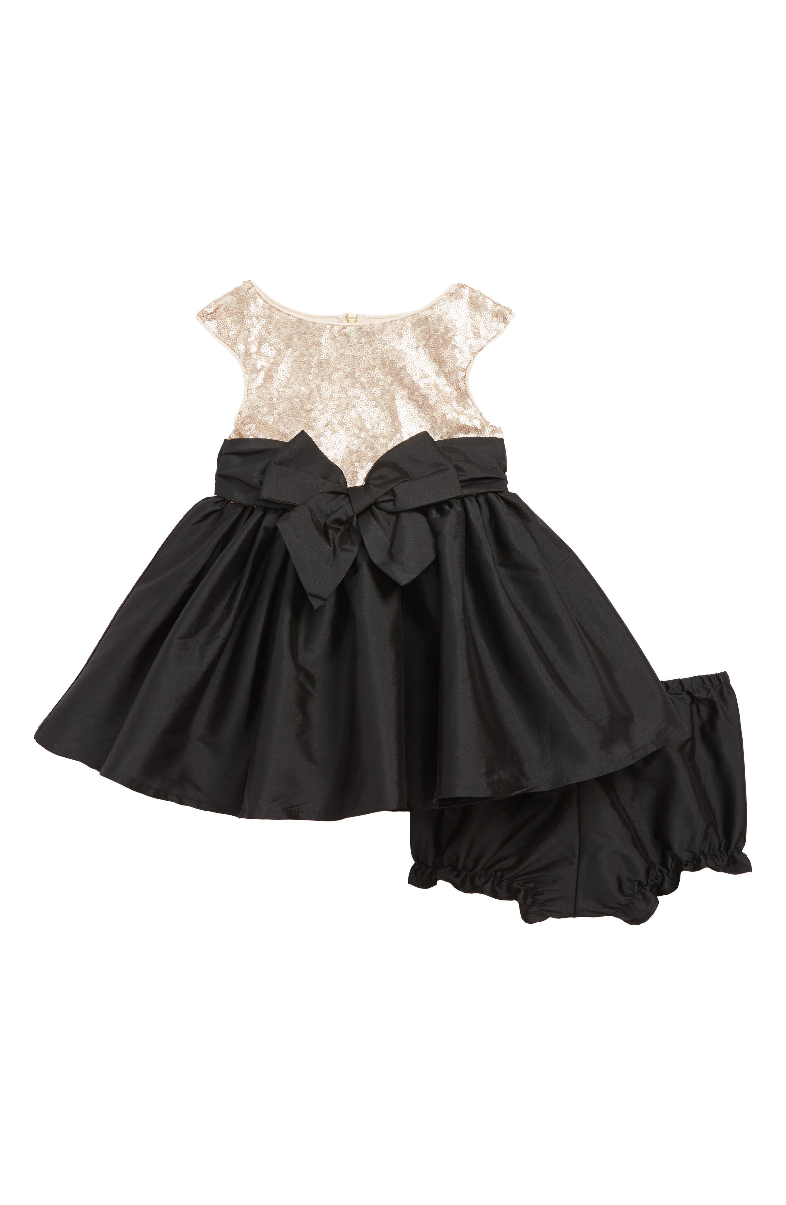 Infant Girls Pippa  Julie Sequin Party Dress Size 12M  Metallic