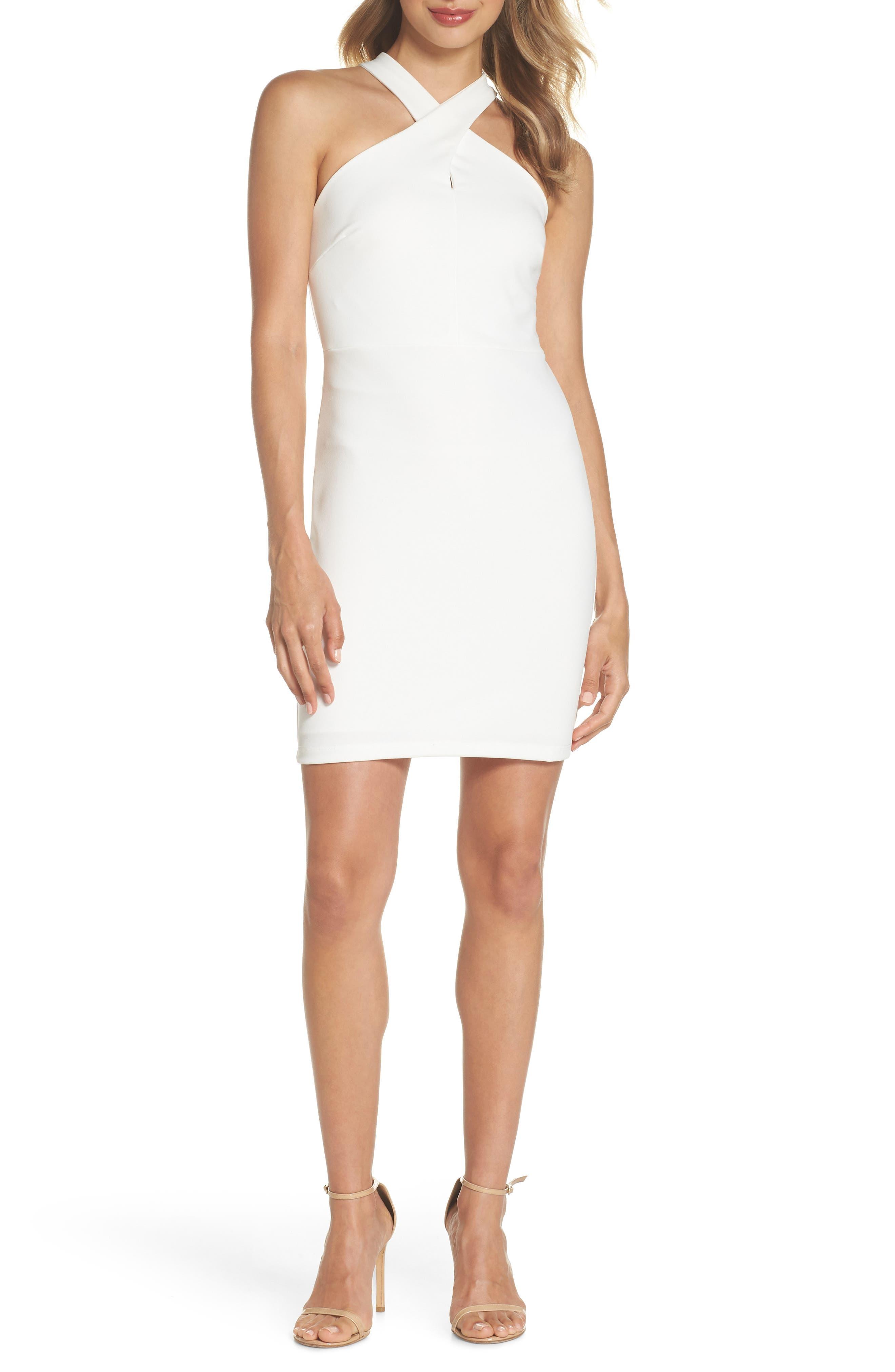 Lulus Thrive Racerback Minidress, White
