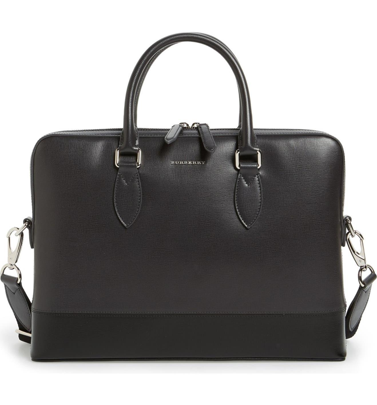 Burberry The Barrow Leather Briefcase  385982ace0d2c