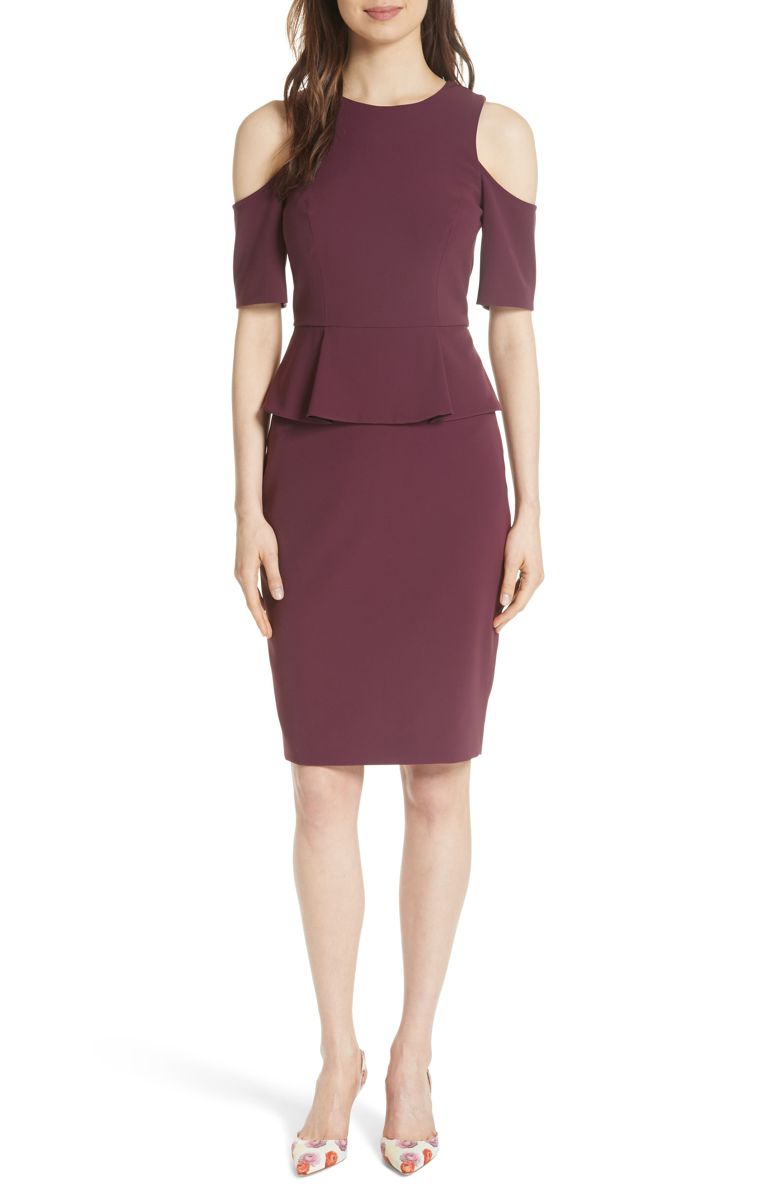 Peplum Pencil Dress,                         Main,                         color,