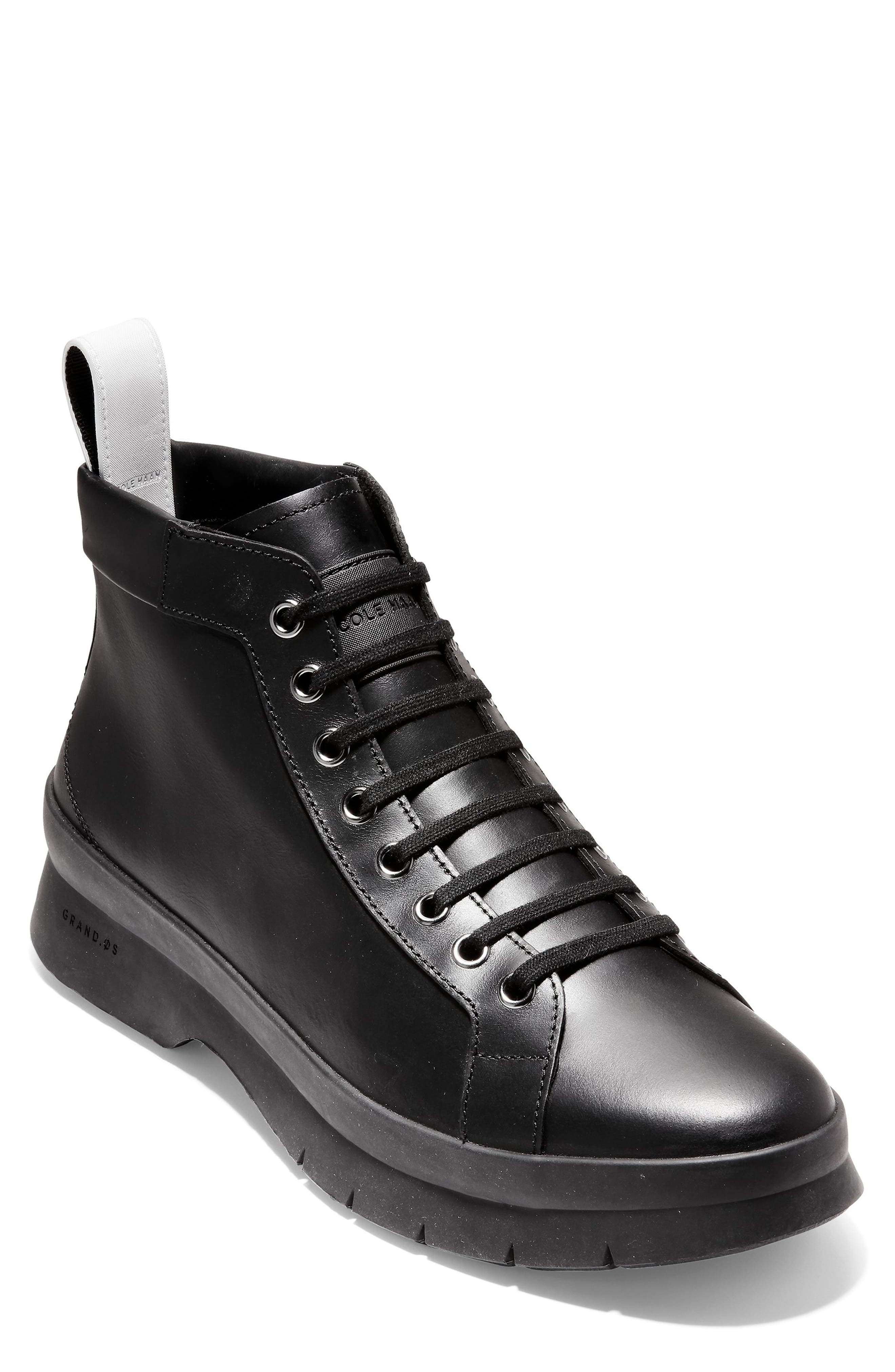 Pinch Utility Waterproof Boot,                             Main thumbnail 1, color,                             BLACK LEATHER