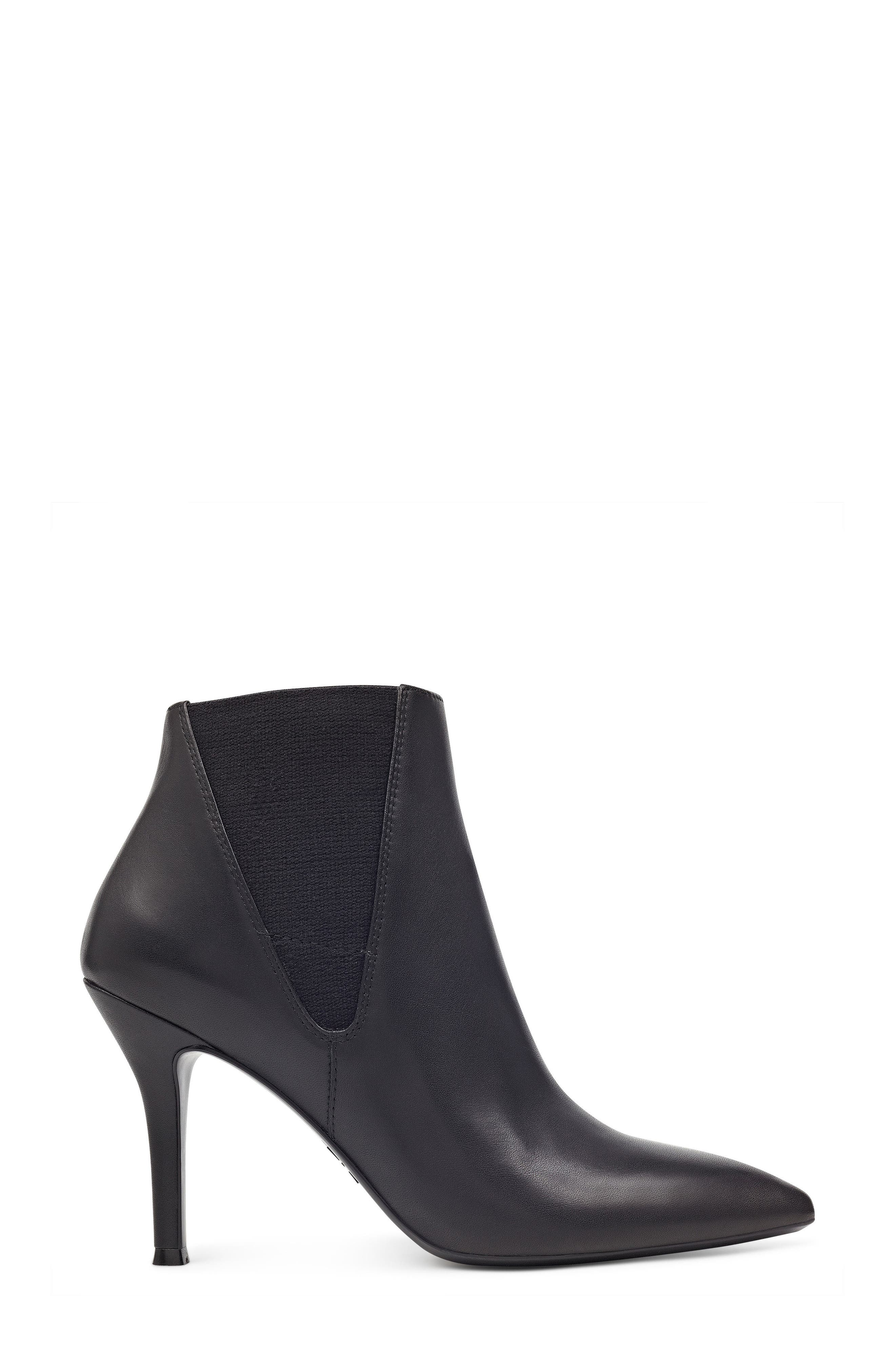 NINE WEST,                             Pointy Toe Bootie,                             Alternate thumbnail 3, color,                             001